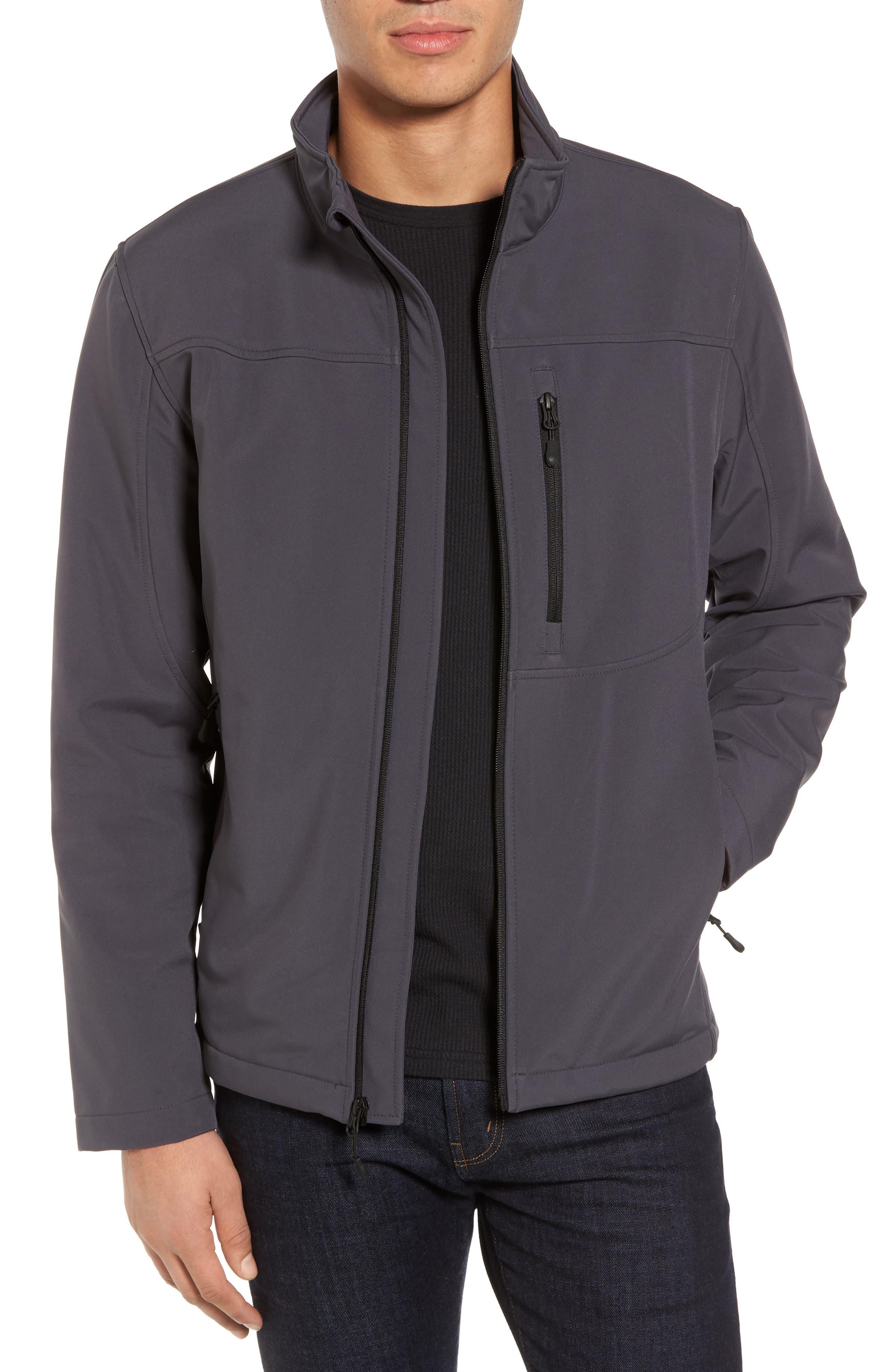 Black Rivet Soft Shell Jacket