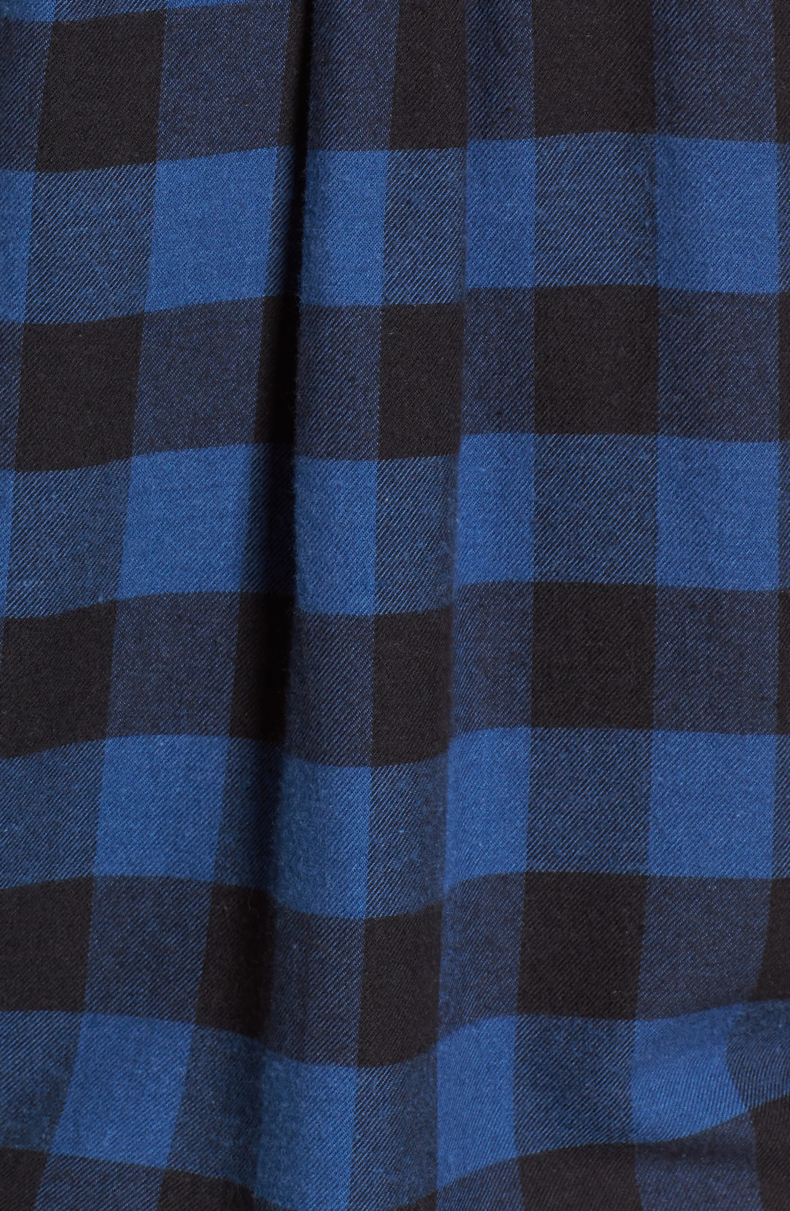 Rex Studded Flannel Shirt,                             Alternate thumbnail 6, color,                             Blue/ Black Check