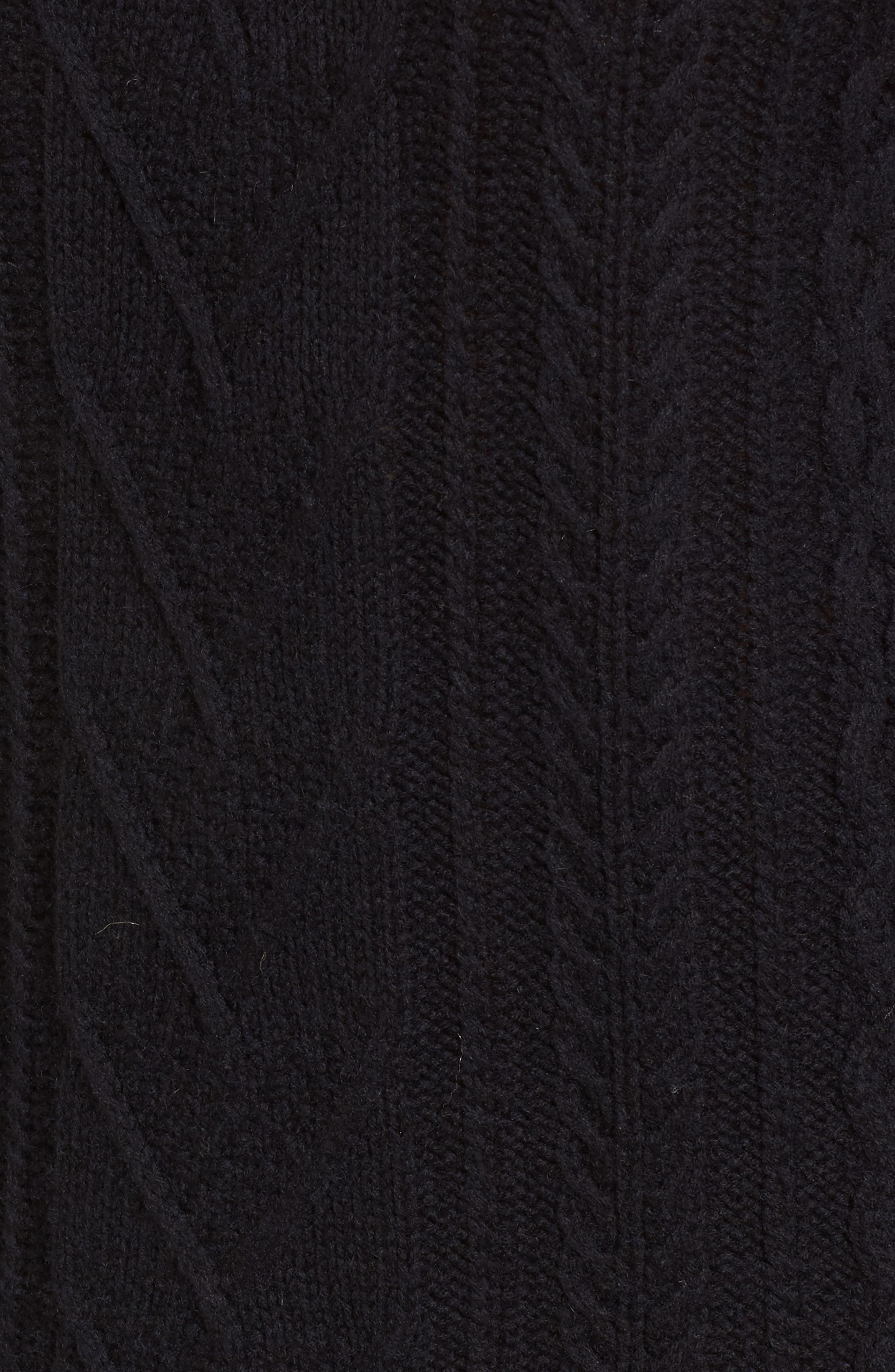 Jesse Sweater Minidress,                             Alternate thumbnail 5, color,                             Midnight