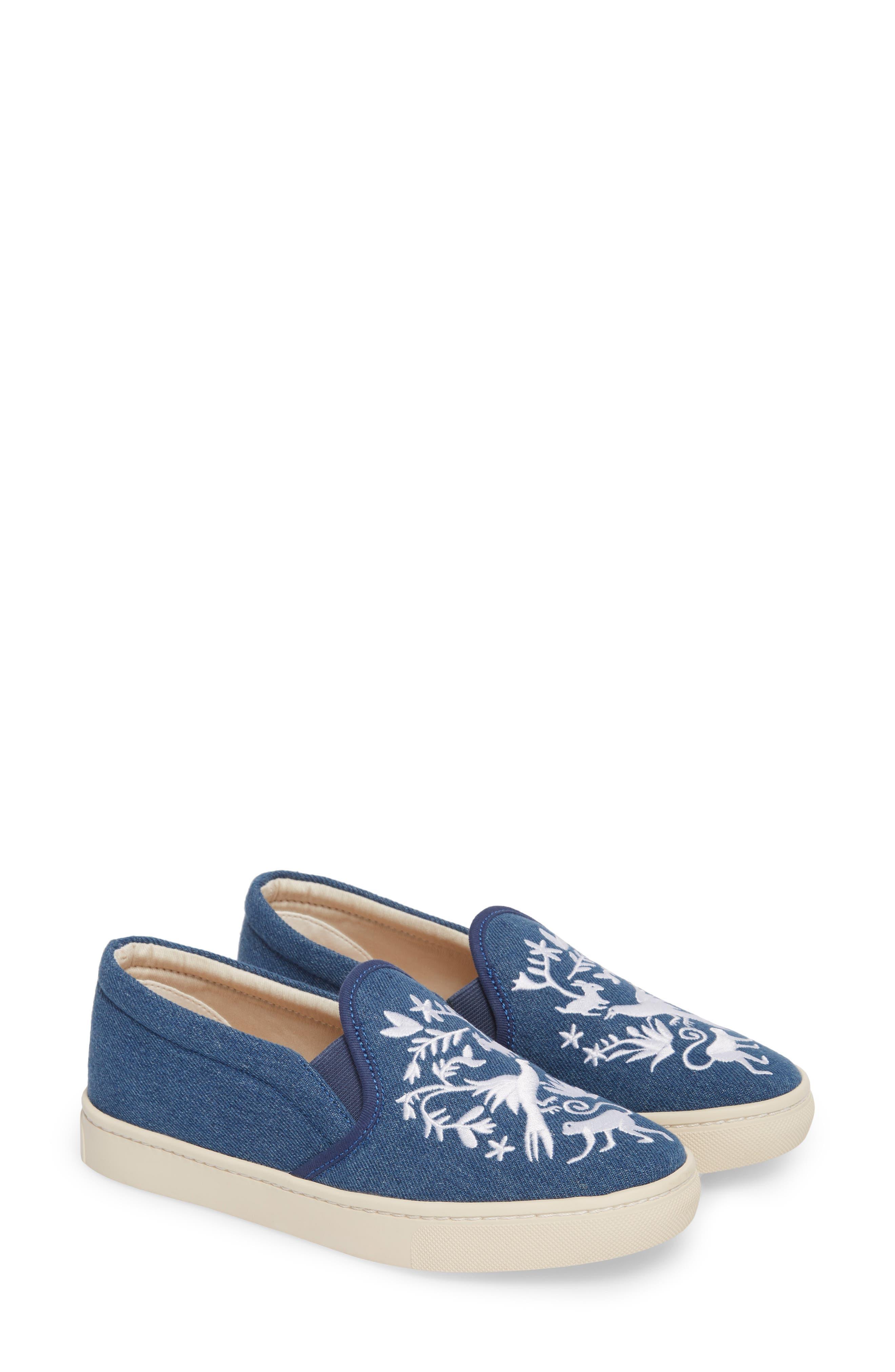 Otomi Slip-On Sneaker,                             Alternate thumbnail 2, color,                             Denim Fabric
