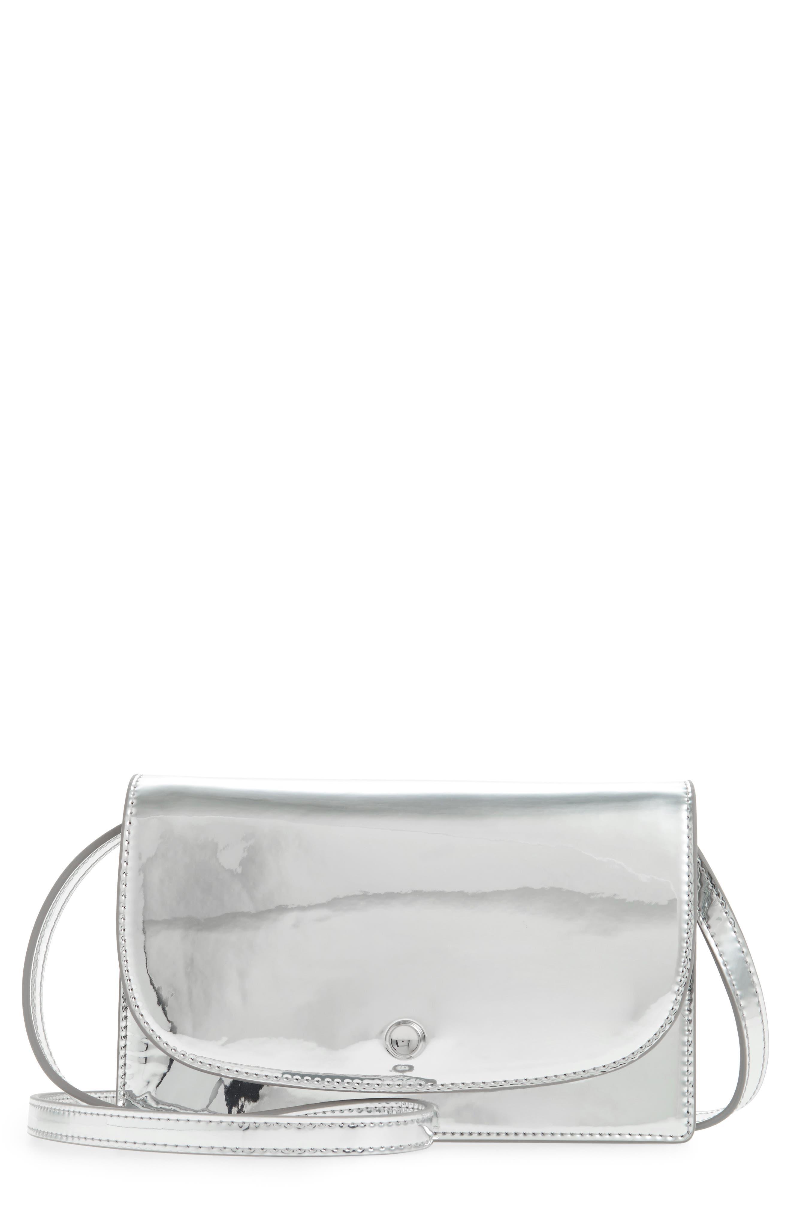 Mini Eloise Crossbody Bag,                             Main thumbnail 1, color,                             Liquid Silver