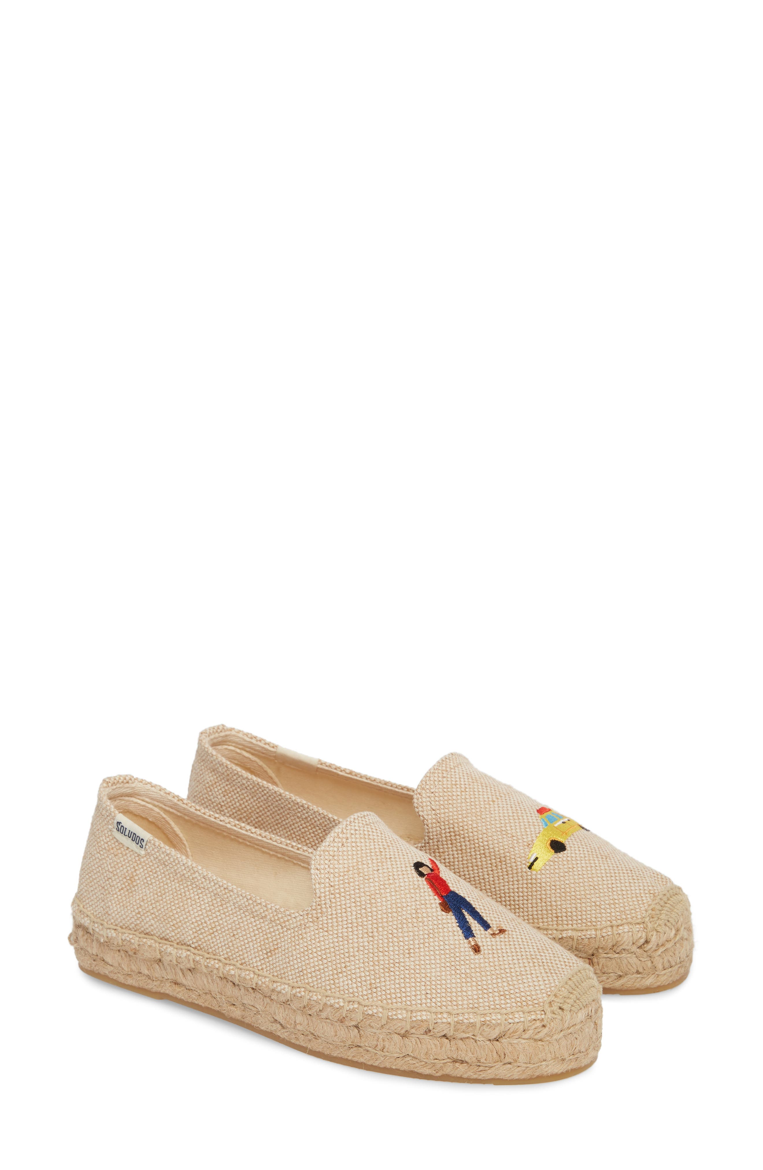 Taxi Embroidered Platform Espadrille,                             Alternate thumbnail 2, color,                             Natural Canvas