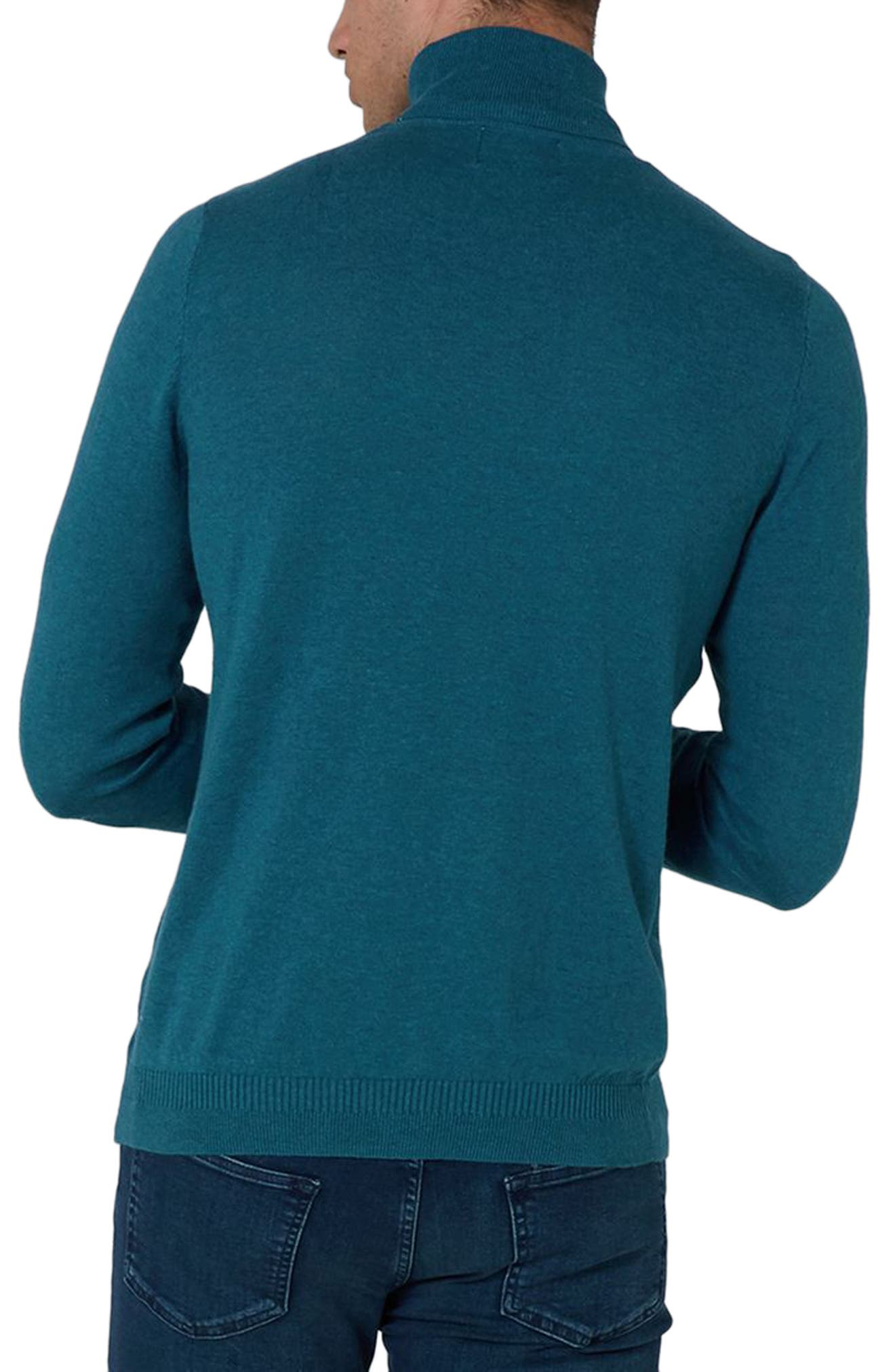 Cotton Turtleneck Sweater,                             Alternate thumbnail 2, color,                             Blue