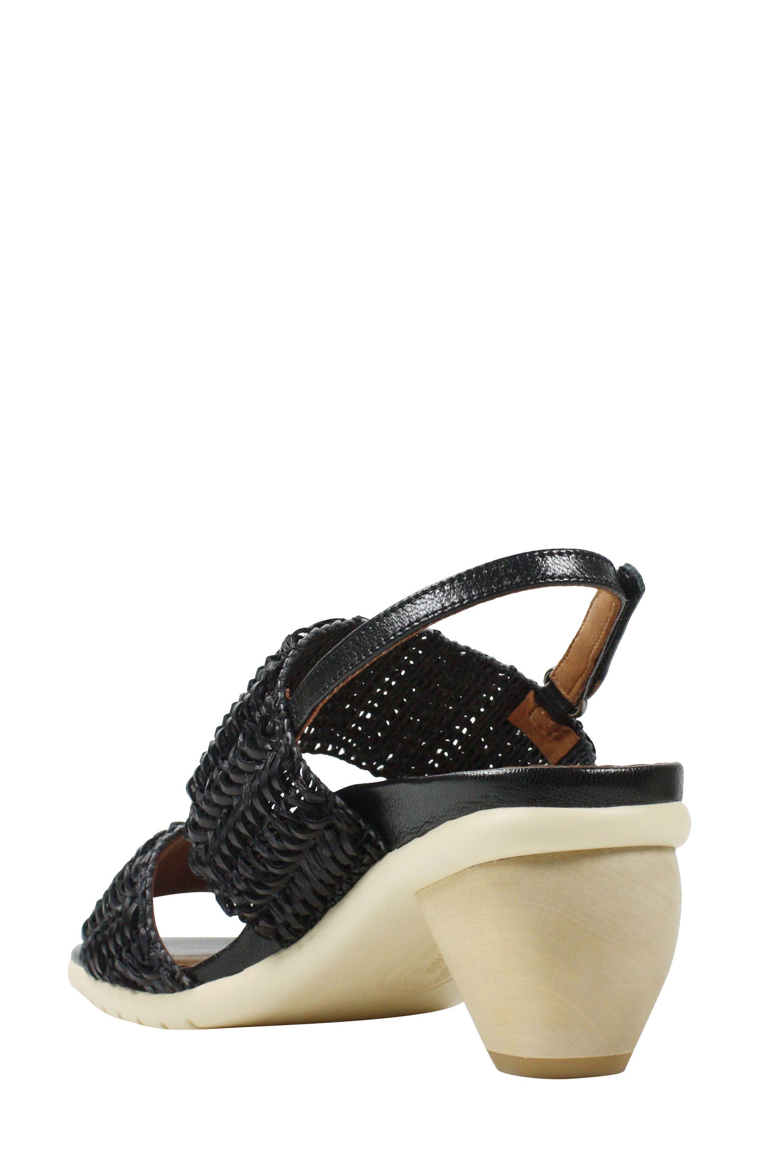 Ulrica Sandal,                             Alternate thumbnail 2, color,                             Black Fabric