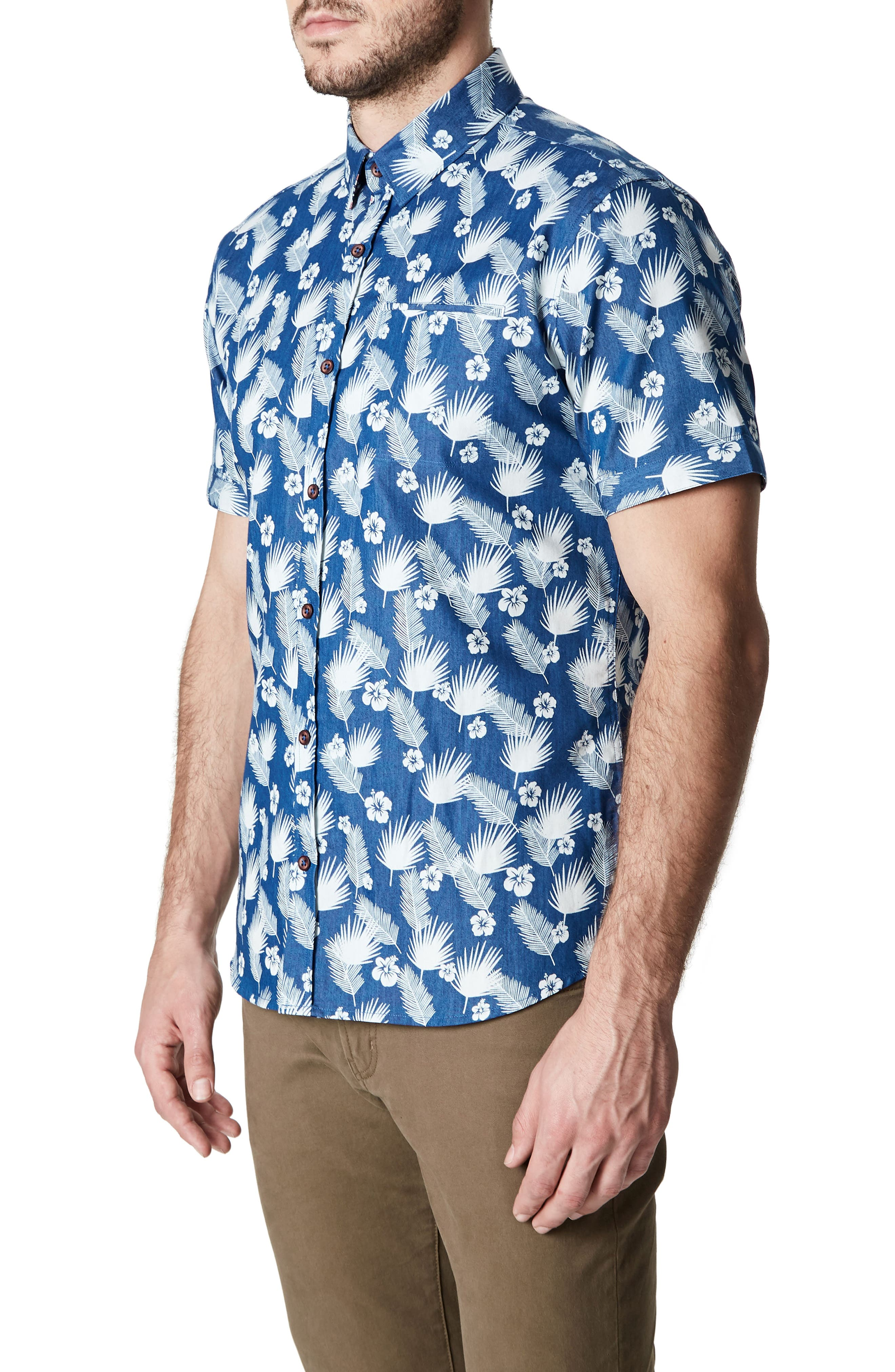 Love Invincible Woven Shirt,                             Alternate thumbnail 3, color,                             Blue