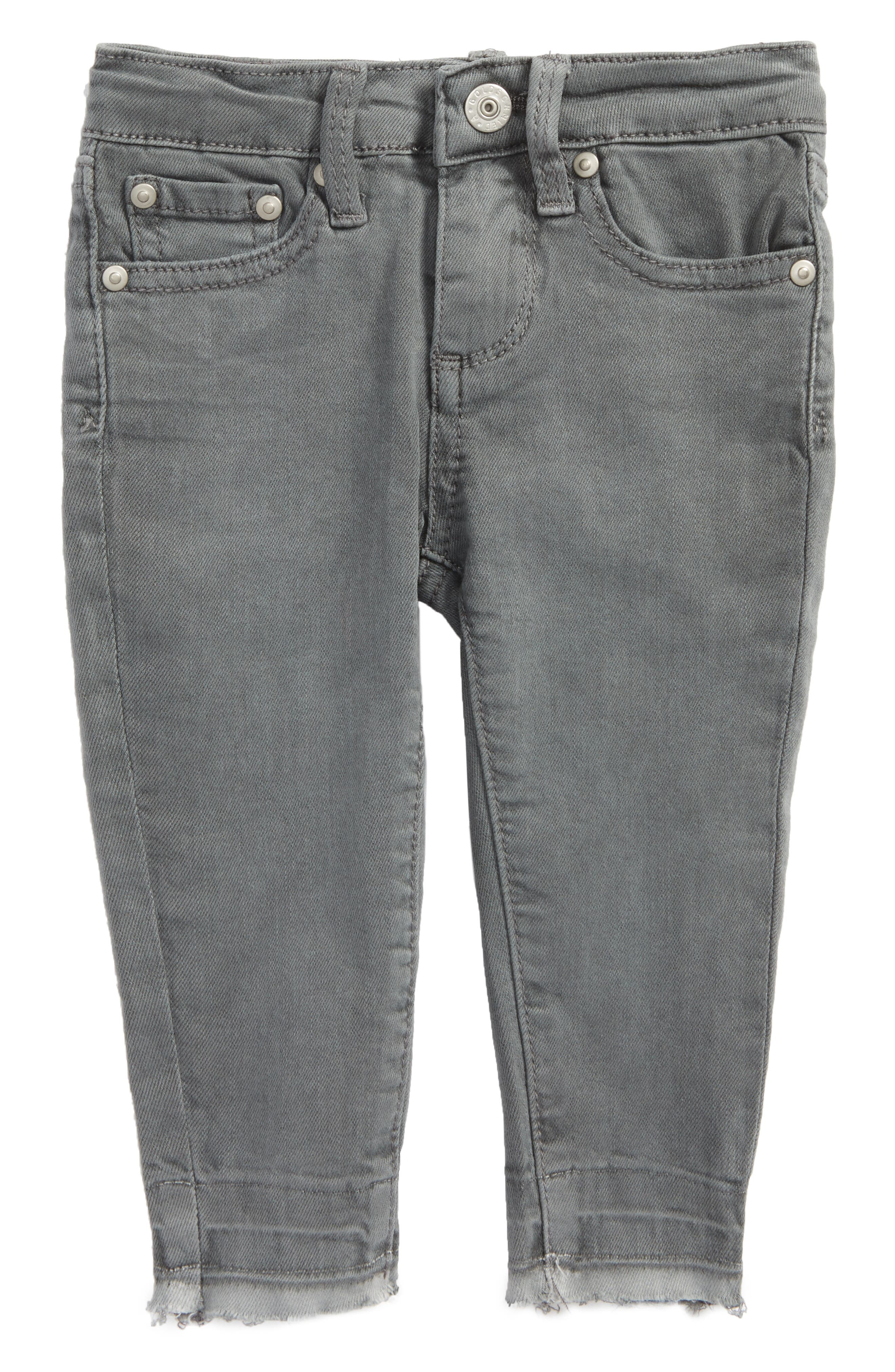 The Stella Super Skinny Jeans,                         Main,                         color, Cool Grey