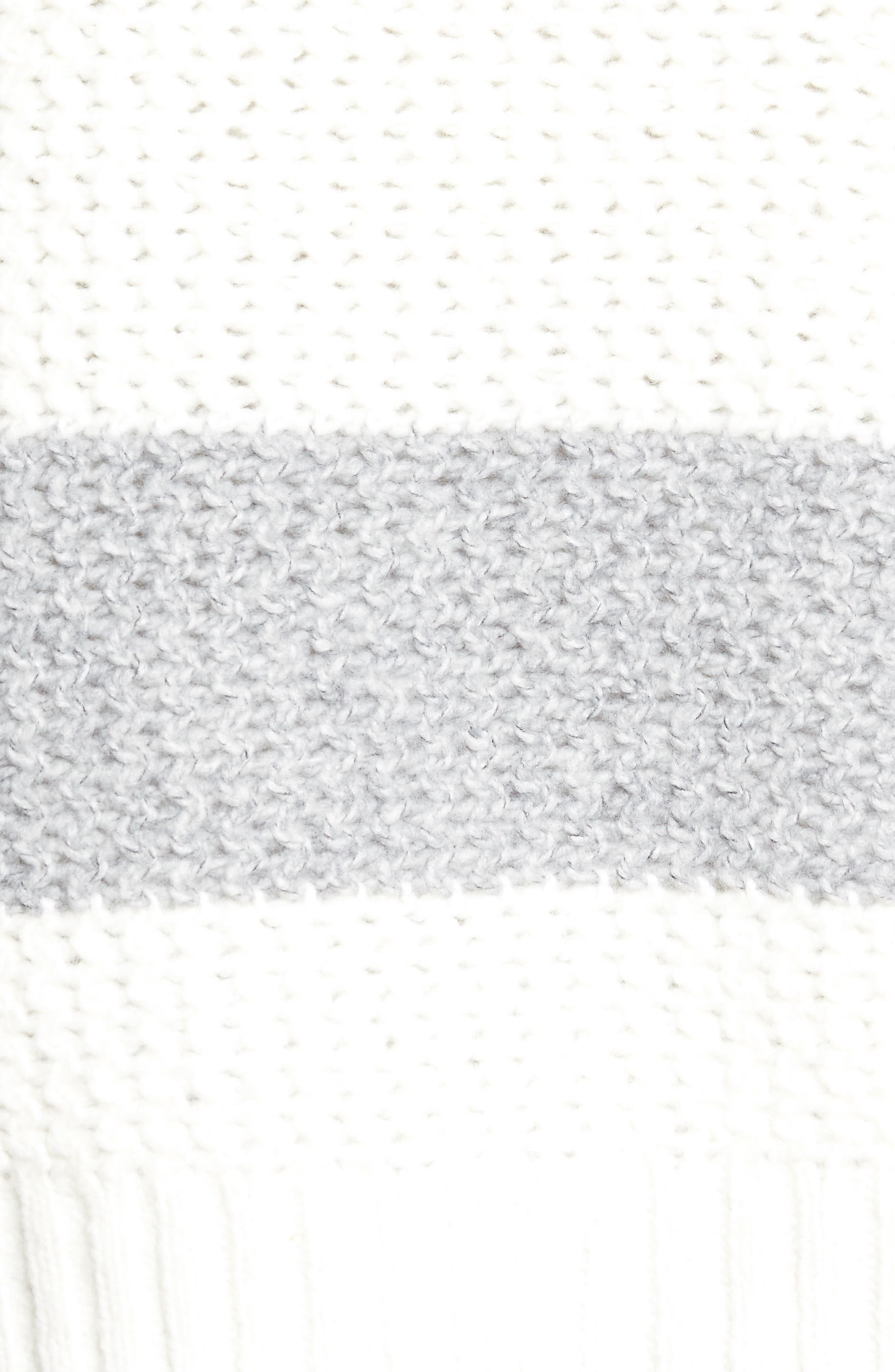 Inner Layer Stripe Cardigan,                             Alternate thumbnail 5, color,                             Fog Mix Cream