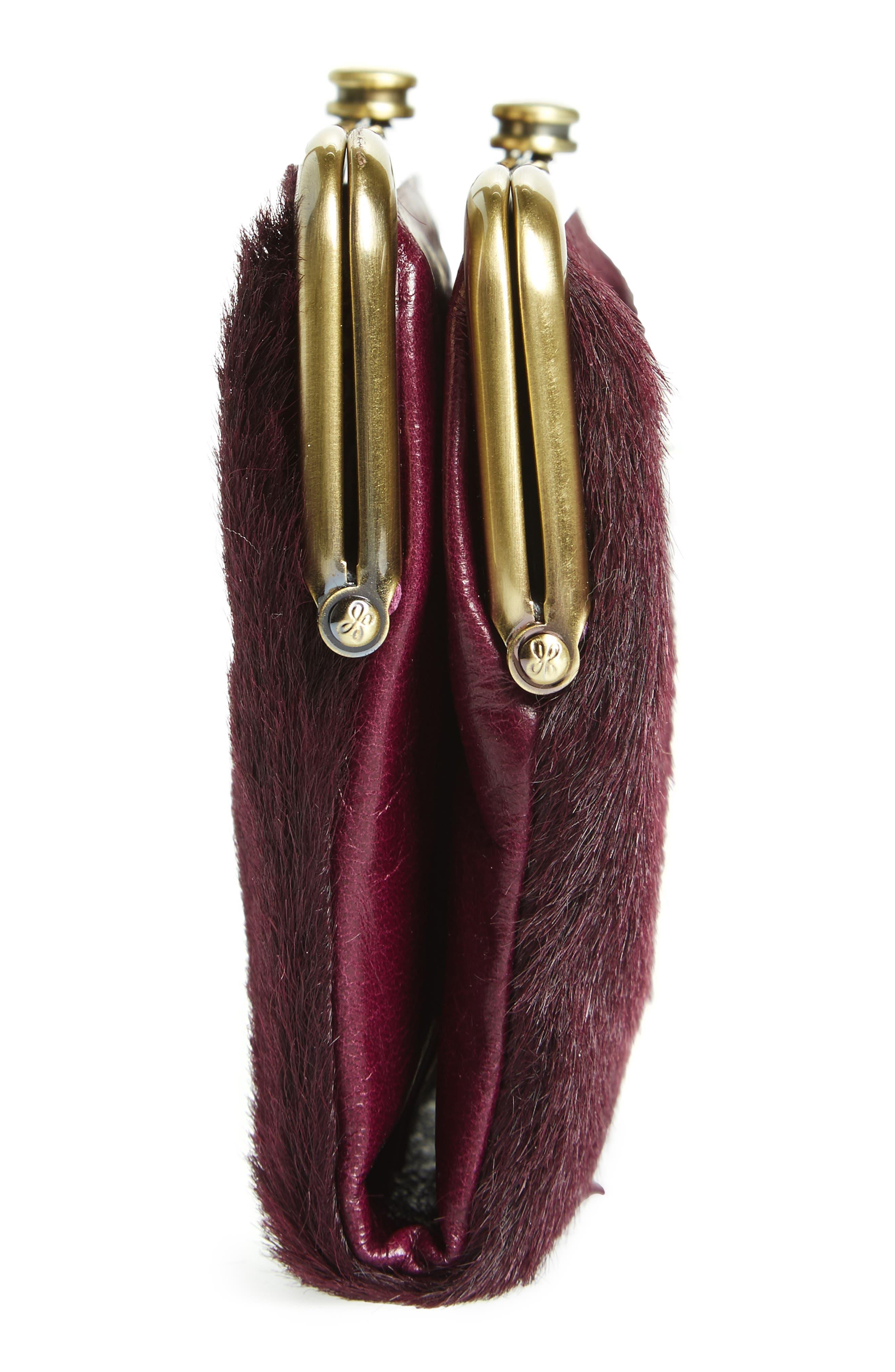 Alternate Image 5  - Hobo Lauren Colorblock Genuine Calf Hair & Calfskin Leather Wallet