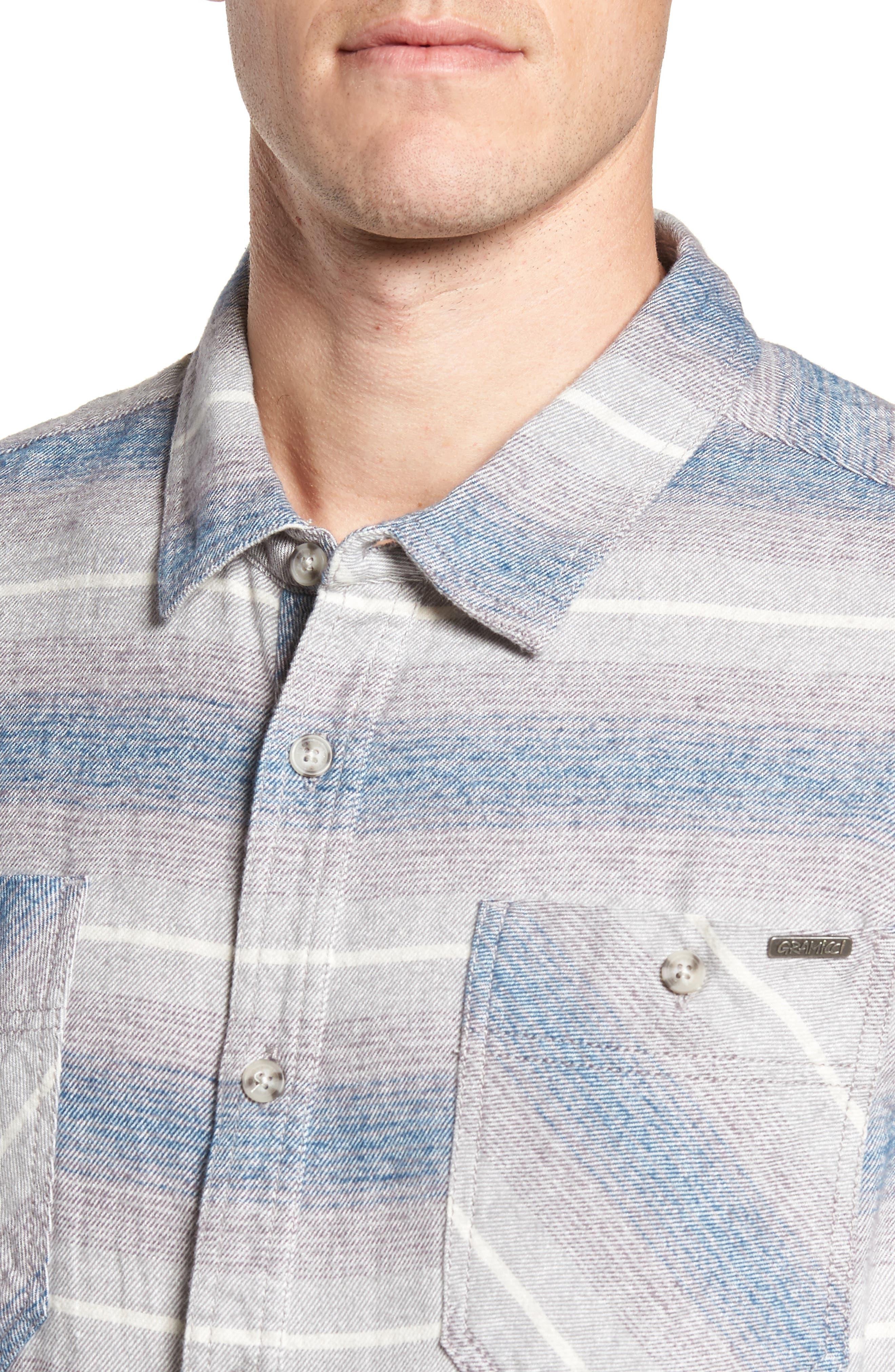General Purpose Regular Fit Stripe Sport Shirt,                             Alternate thumbnail 4, color,                             Blue Abyss