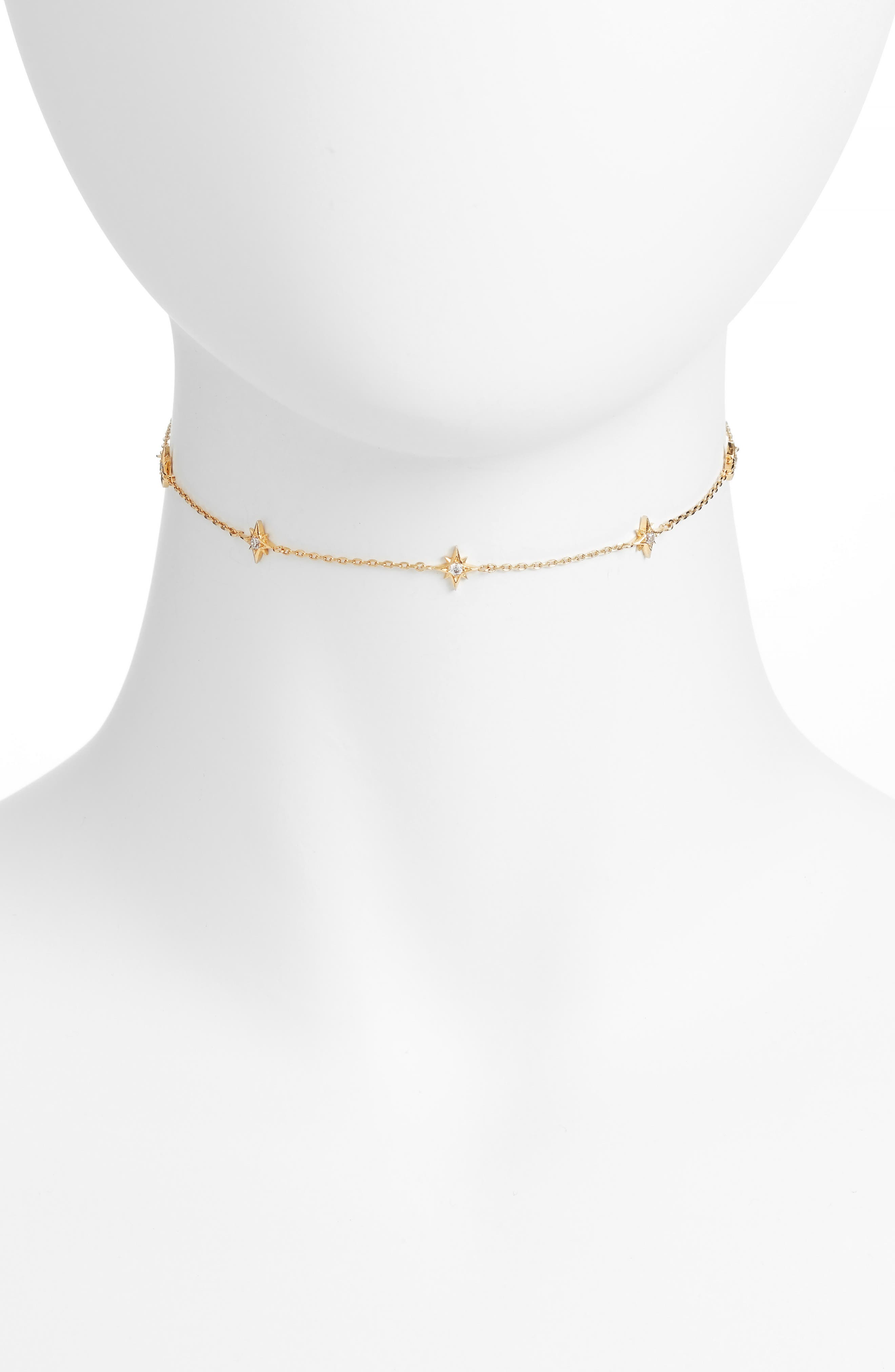 Mona Star Choker Necklace,                         Main,                         color, Gold