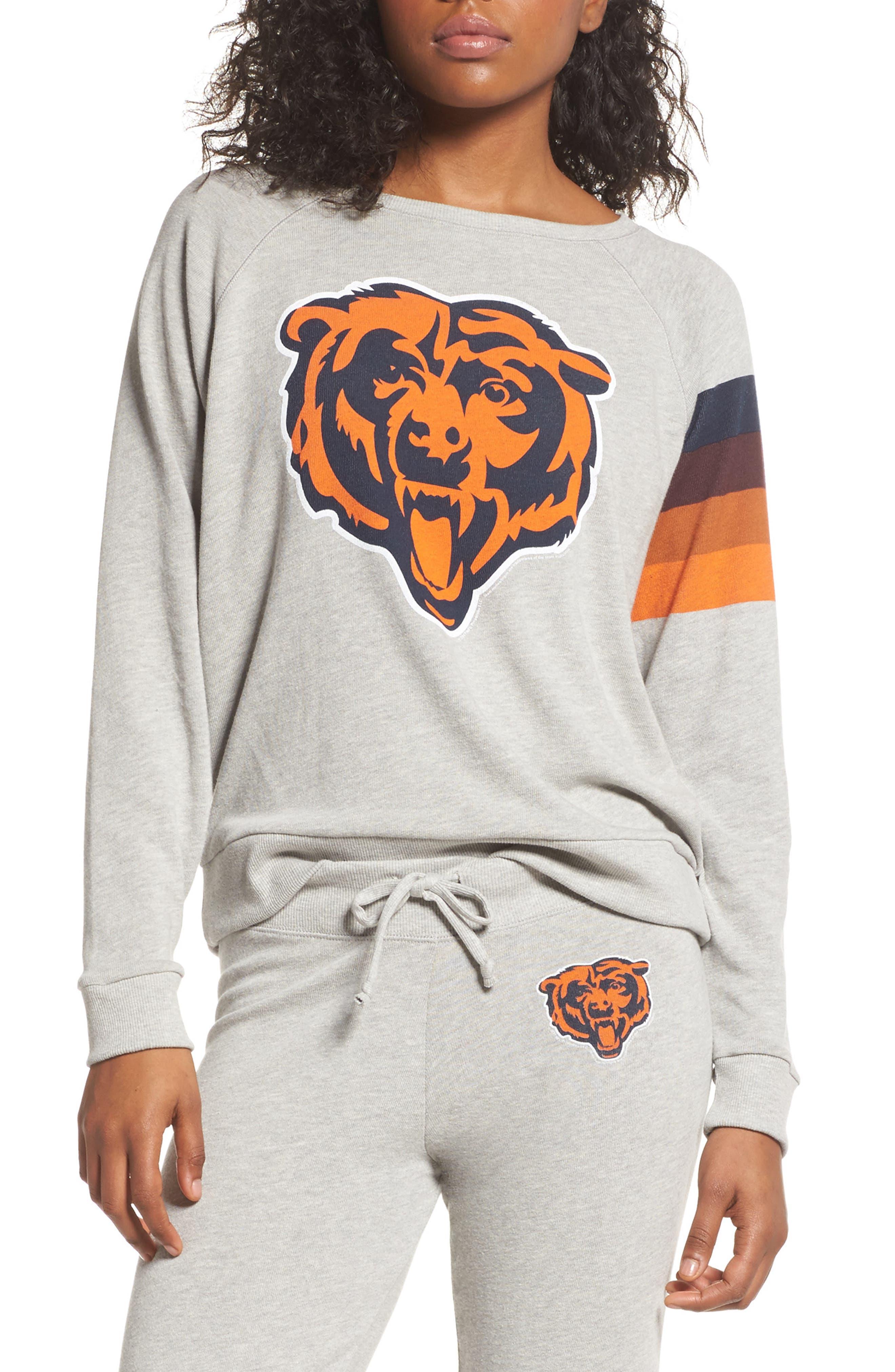 NFL Chicago Bears Hacci Sweatshirt,                         Main,                         color, Dove Heather Grey