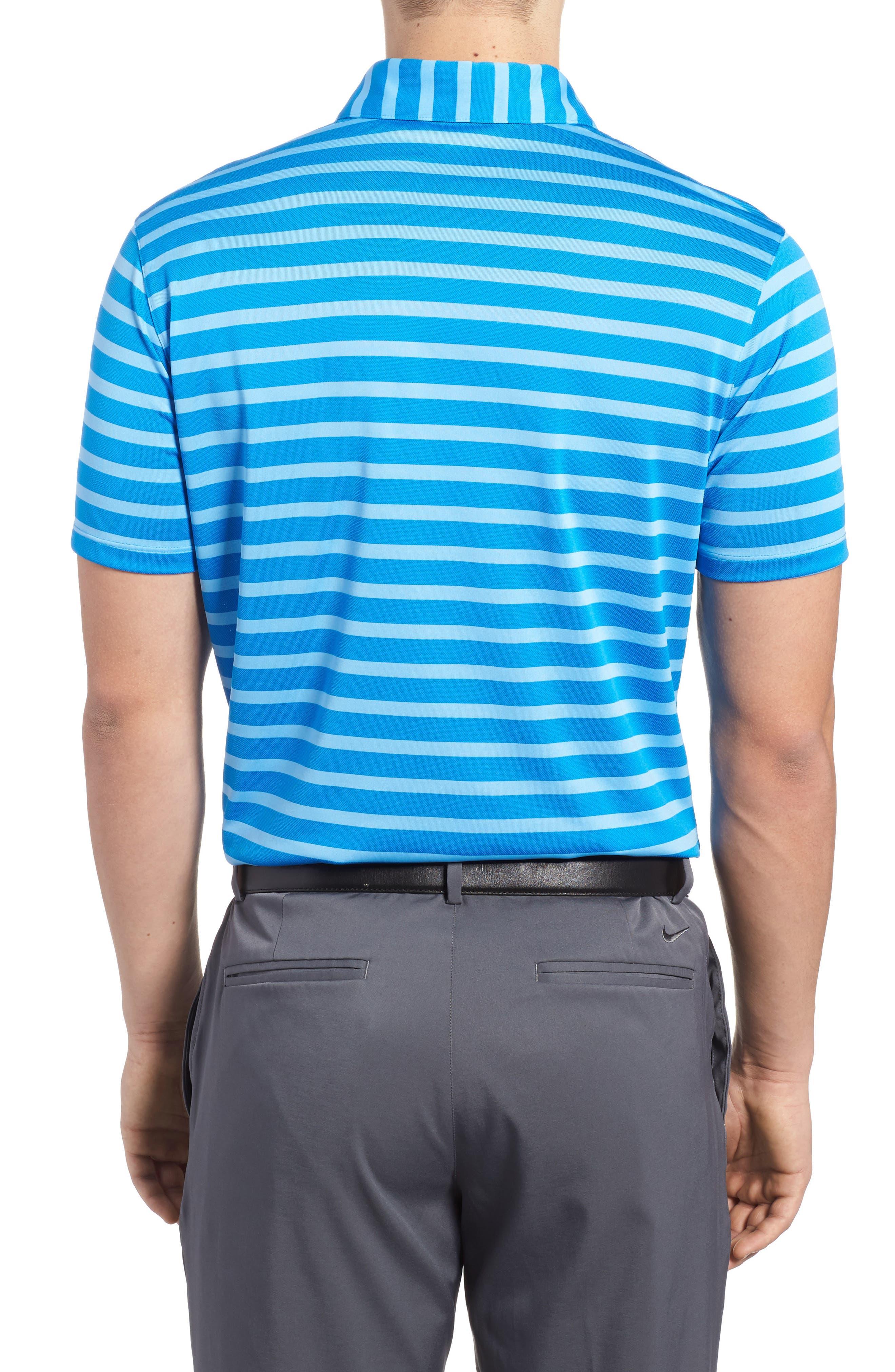 Golf Stripe Polo,                             Alternate thumbnail 2, color,                             Photo Blue/ White