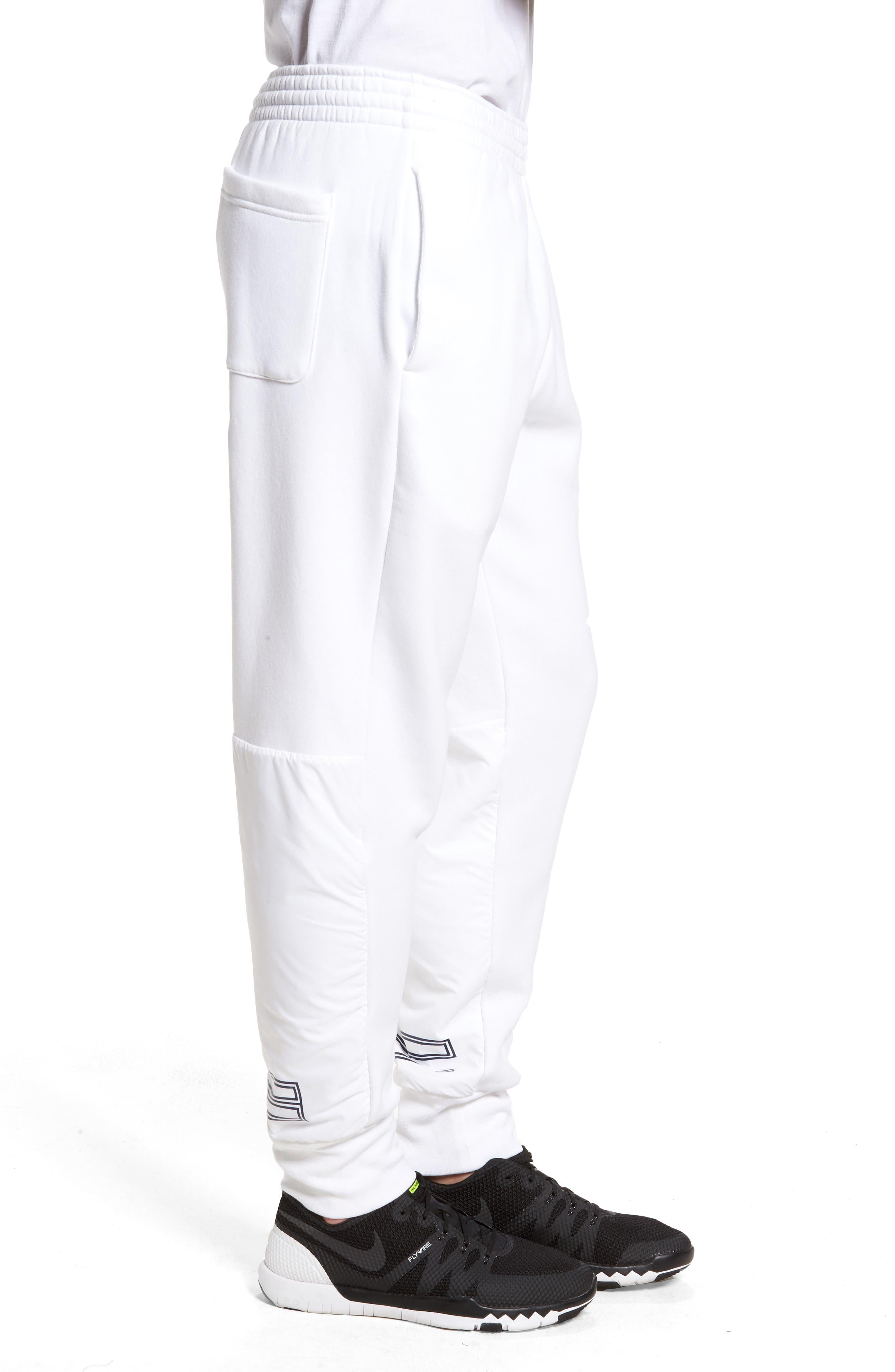Jordan AJ11 Hybrid Pants,                             Alternate thumbnail 3, color,                             White