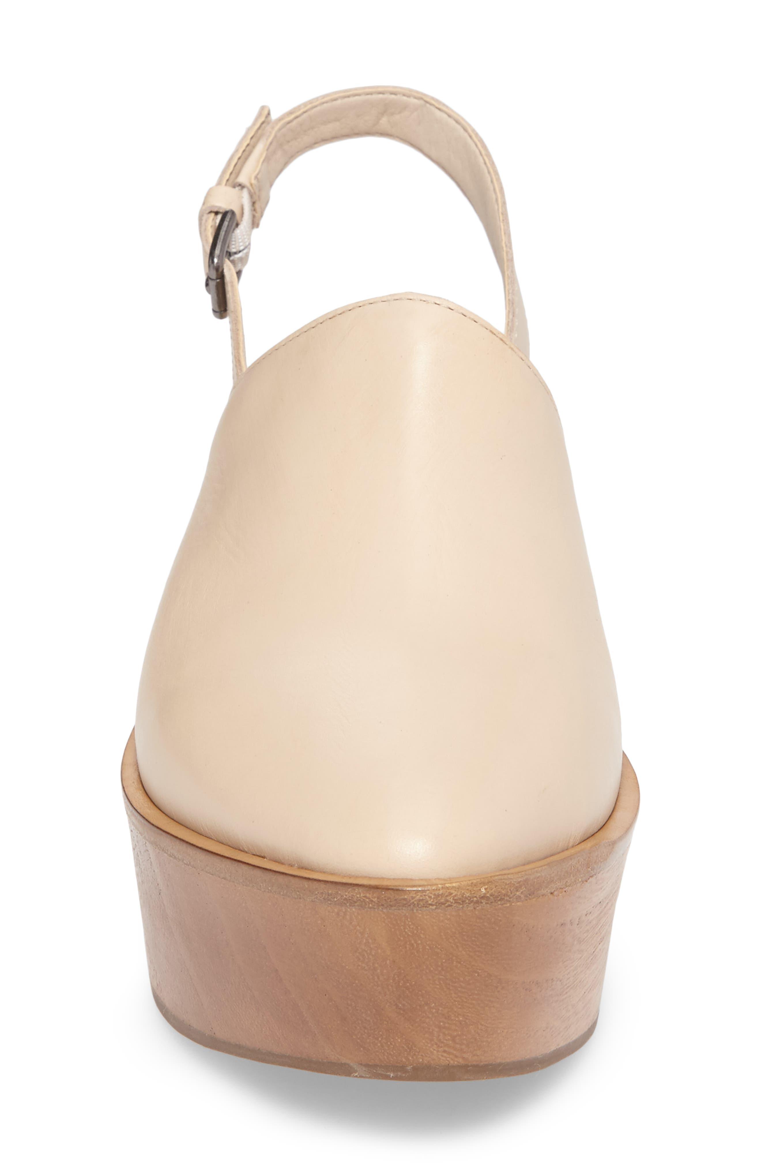 Eyals Slingback Platform Wedge Sandal,                             Alternate thumbnail 4, color,                             Natural Leather