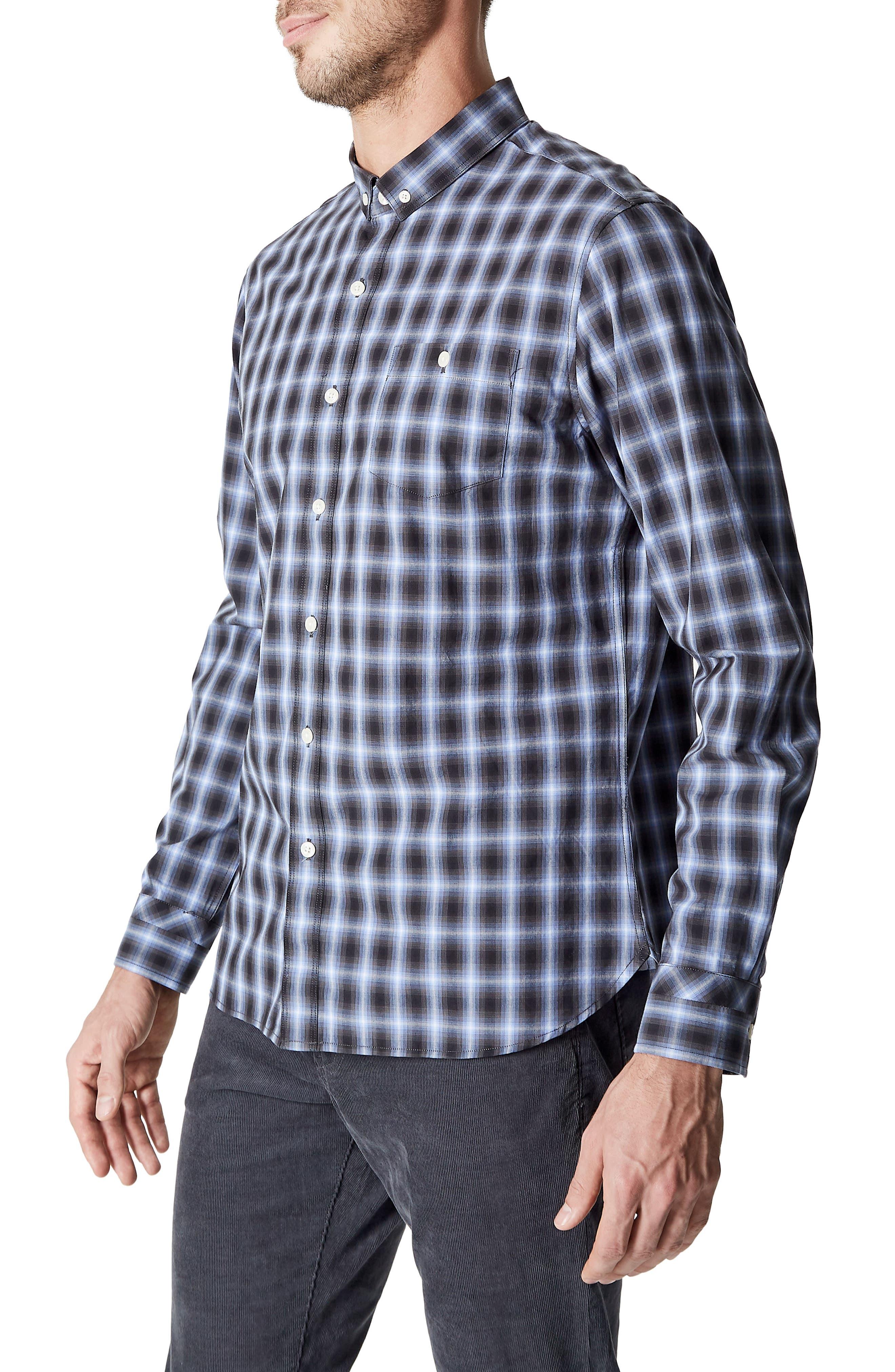 Higher Ground Woven Shirt,                             Alternate thumbnail 3, color,                             Blue