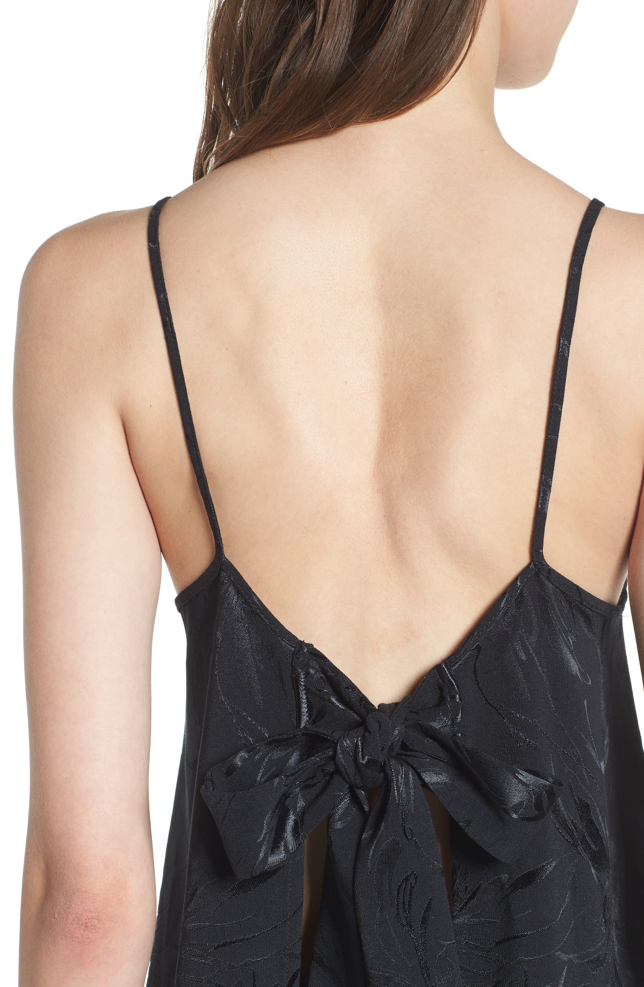 Tie Back Swing Top,                             Alternate thumbnail 4, color,                             Black