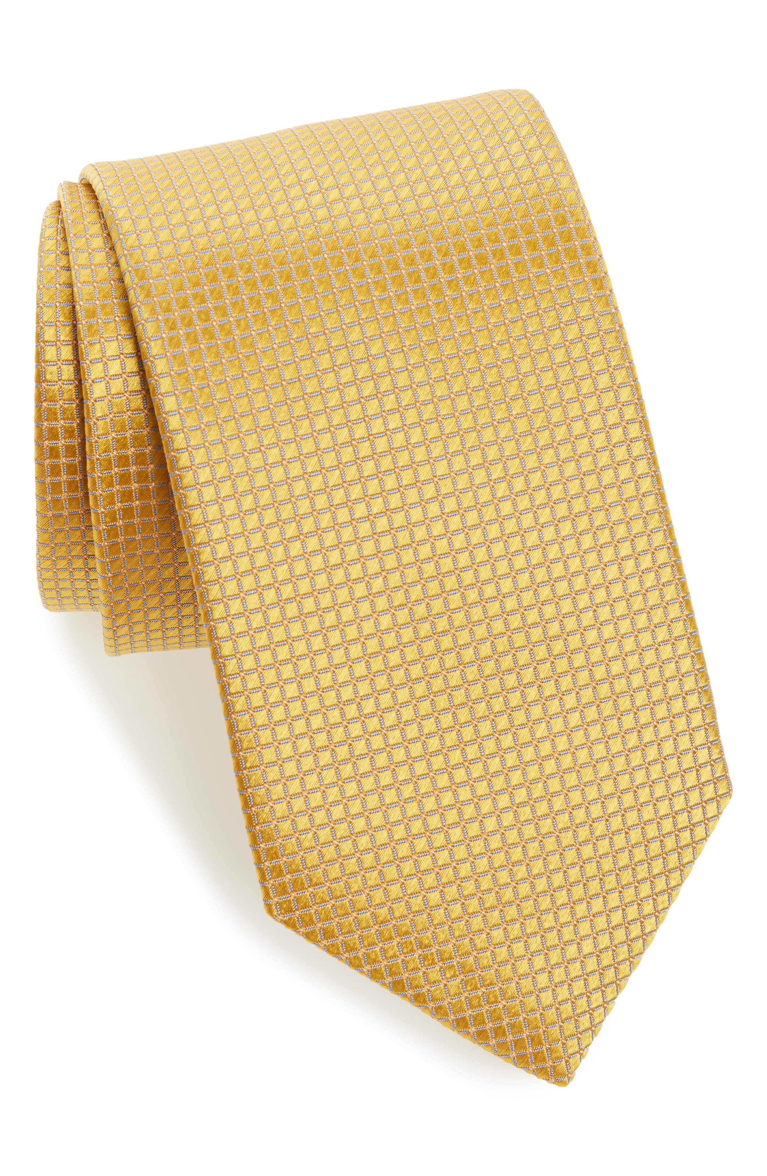 David Donahue Grid Silk Tie