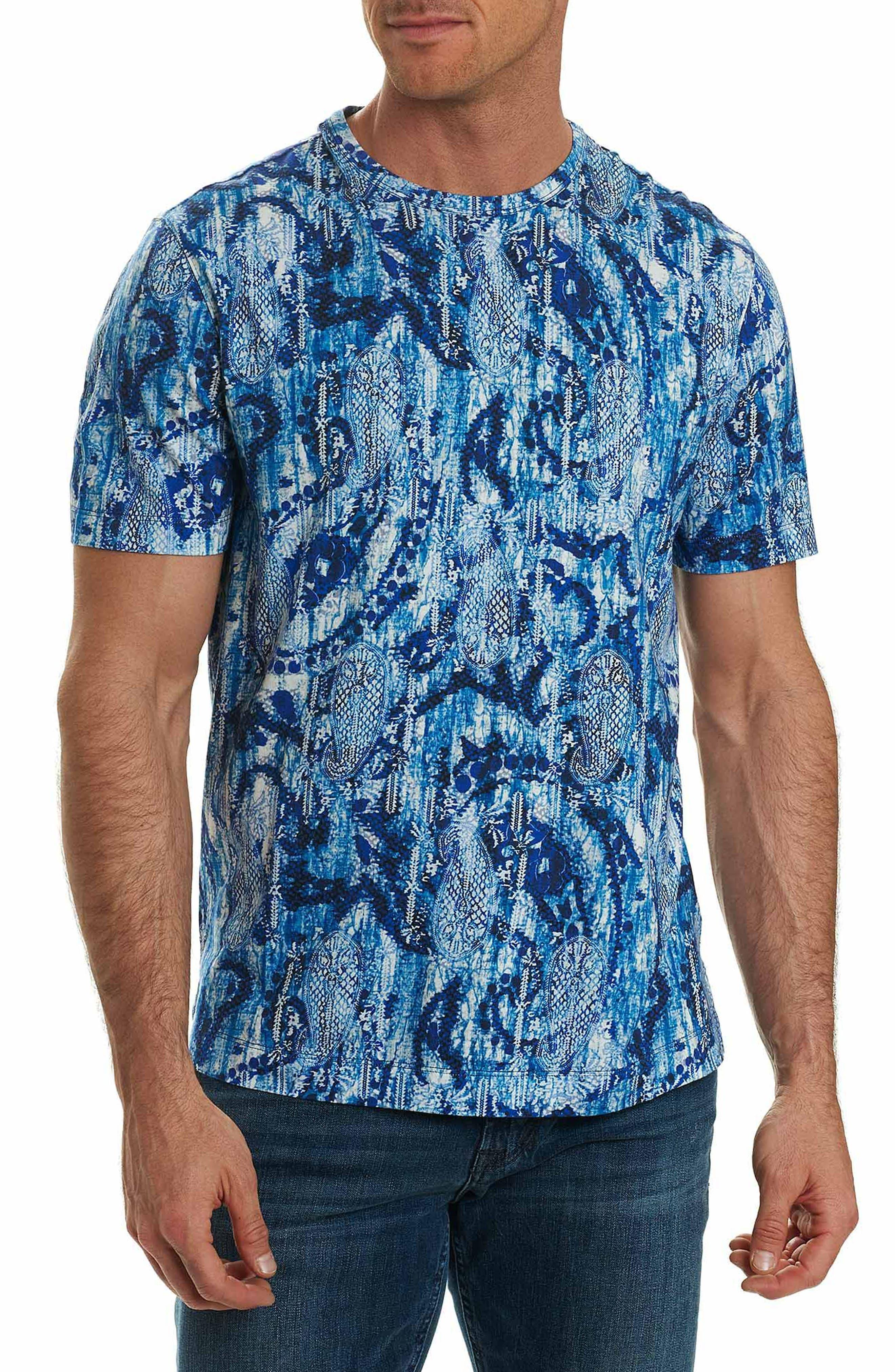 Islets Knit T-Shirt,                         Main,                         color, Blue