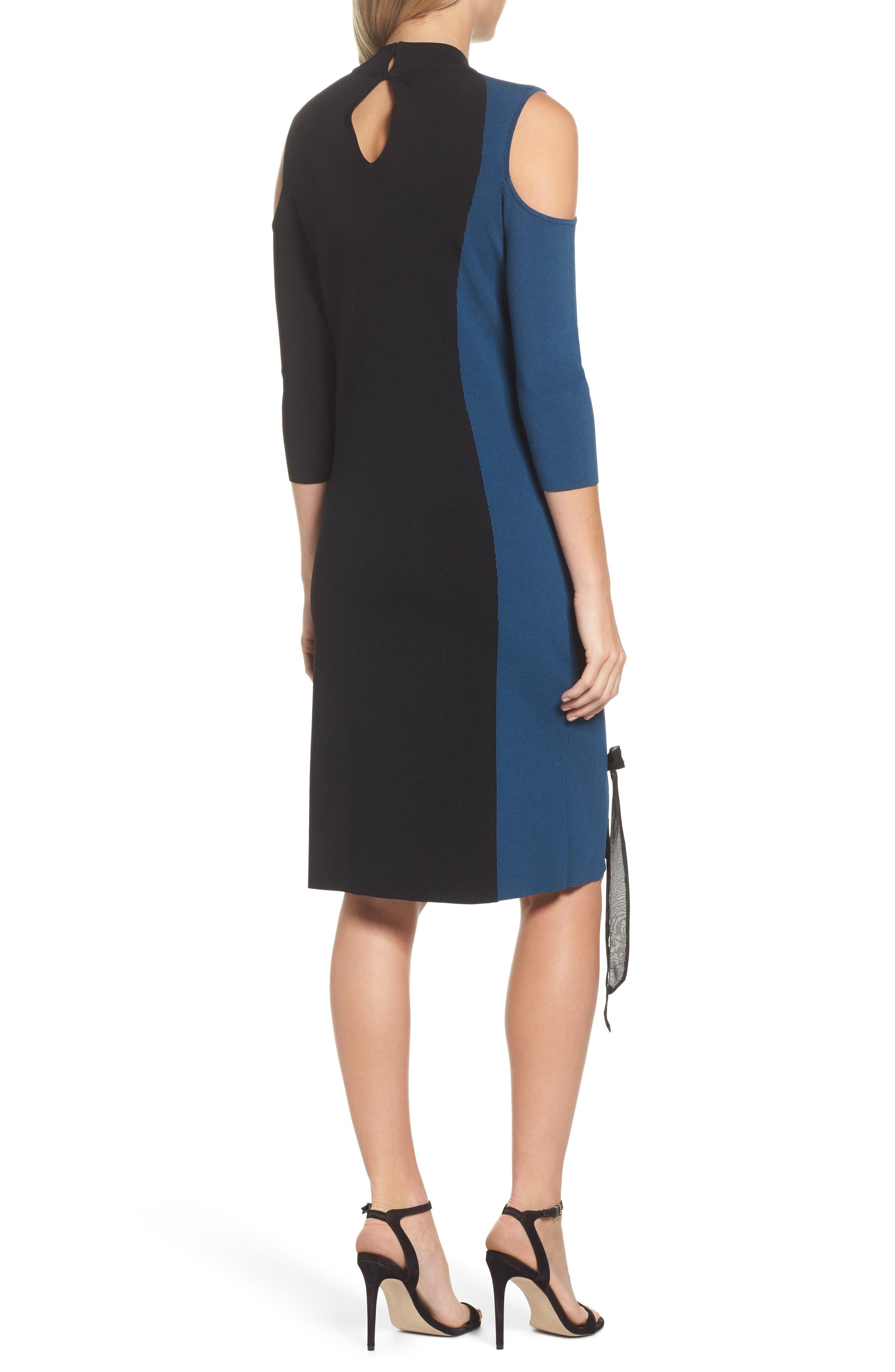 Alternate Image 2  - NIC+ZOE Swirl Cold Shoulder Dress