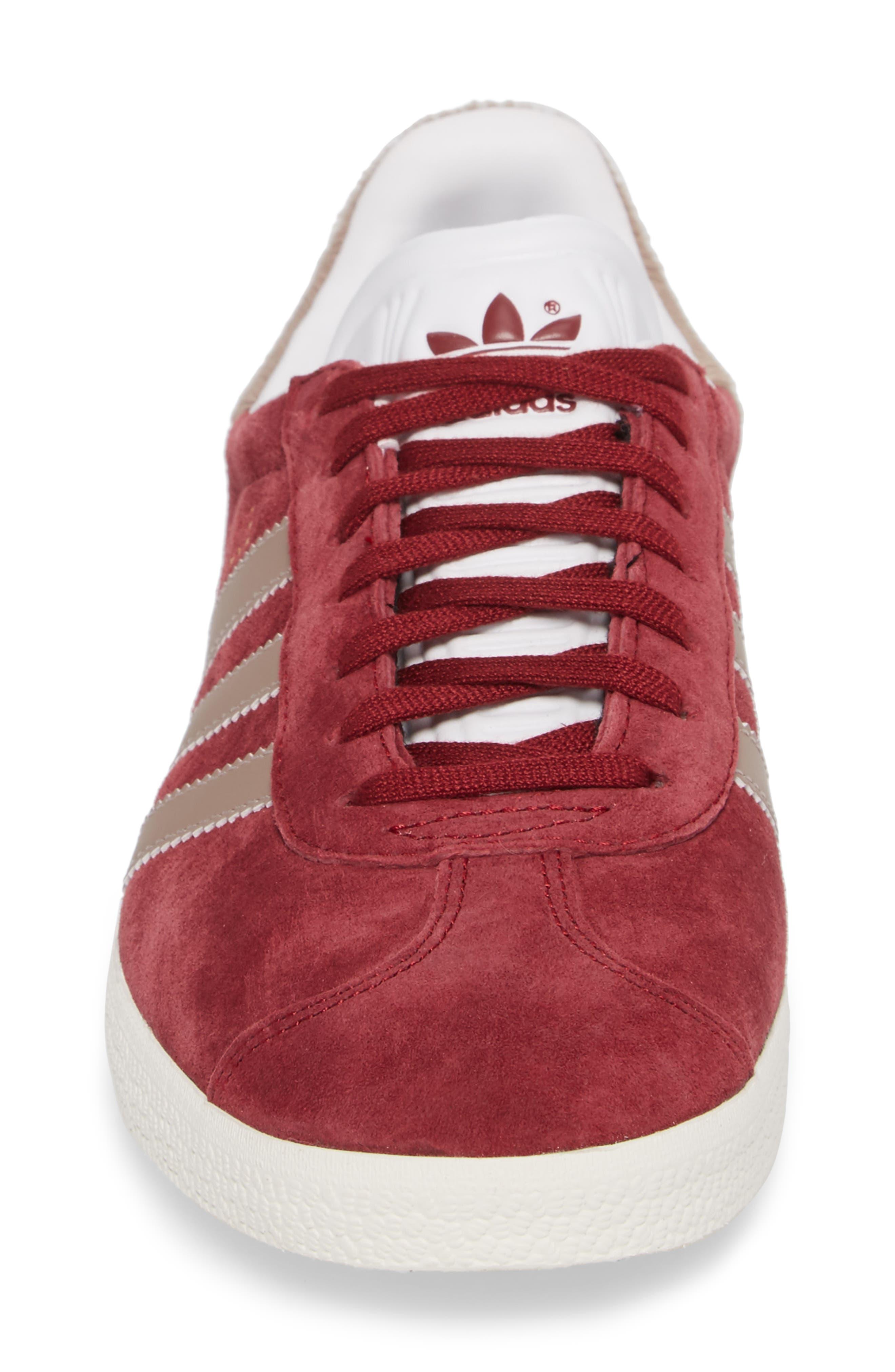 Gazelle Sneaker,                             Alternate thumbnail 4, color,                             Burgundy/ Vapour Grey/ White