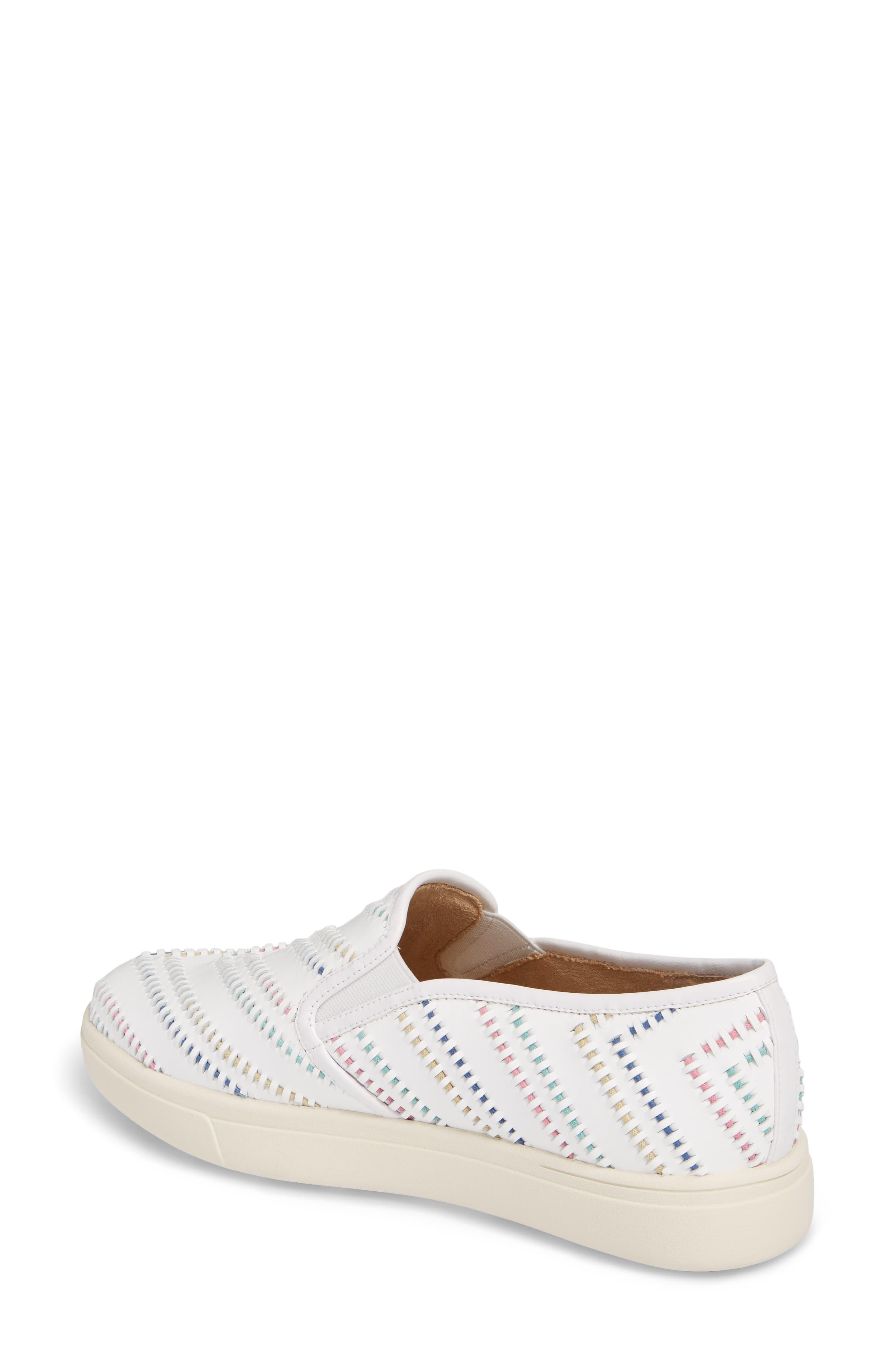 Ocean Slip-On Sneaker,                             Alternate thumbnail 2, color,                             White Leather