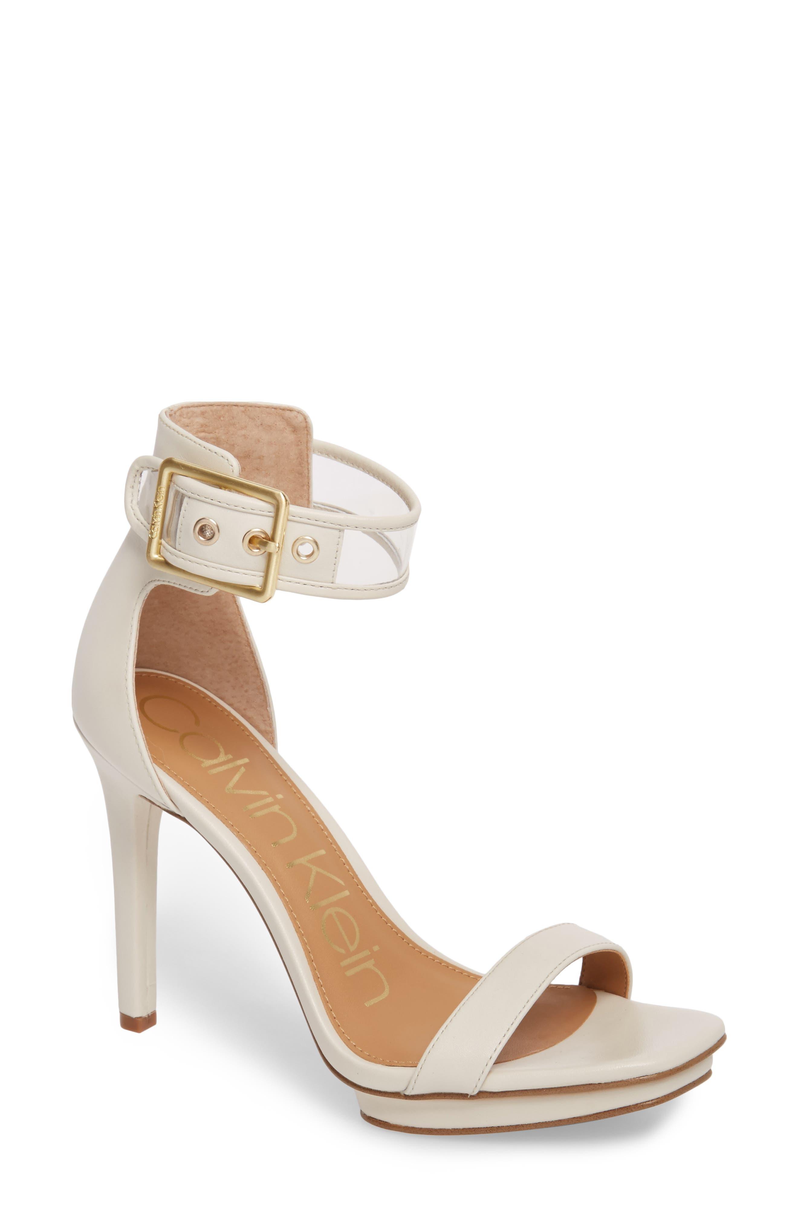 Vable Sandal,                         Main,                         color, Soft White Leather