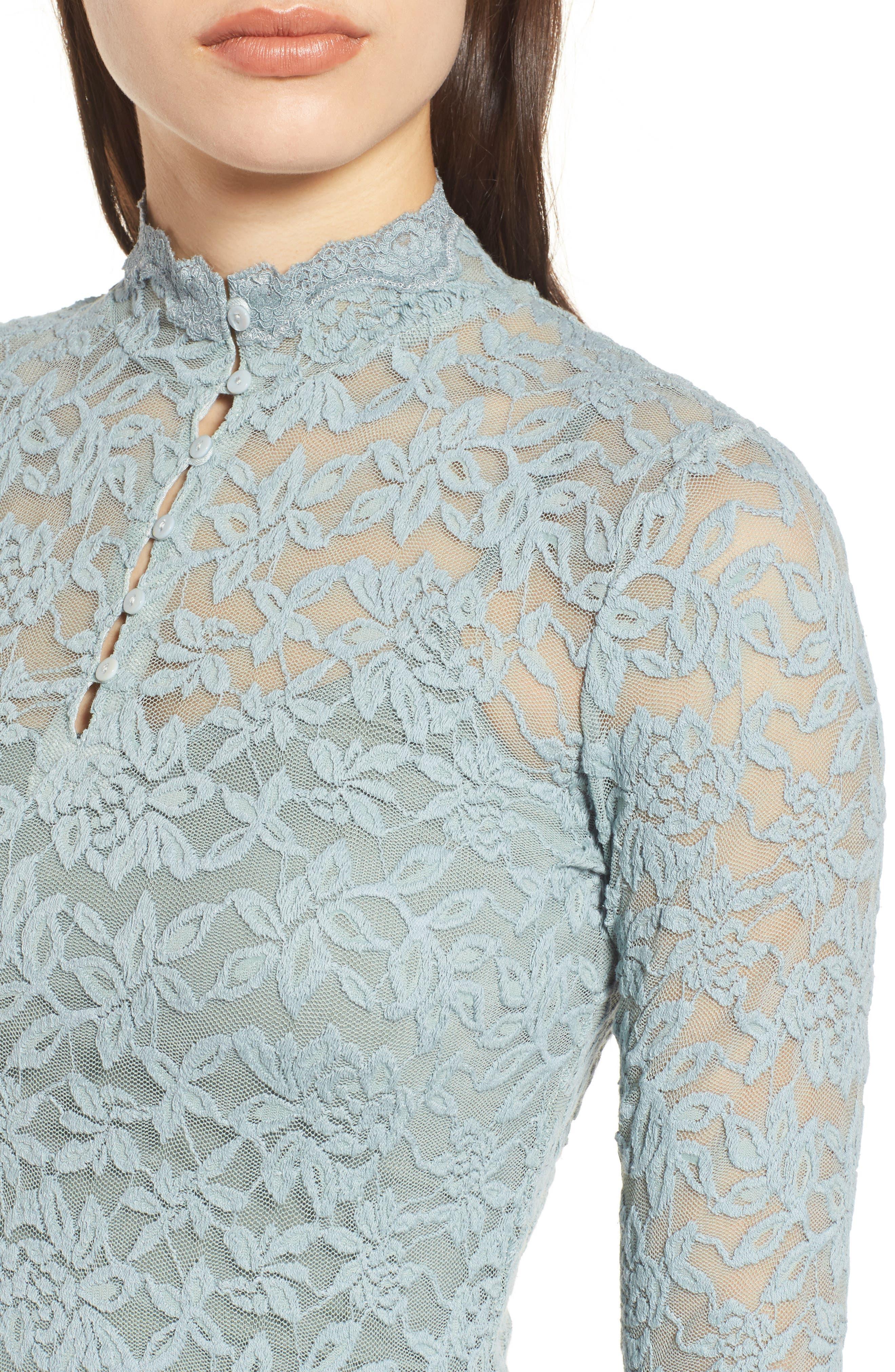 Delicia Long Sleeve Top,                             Alternate thumbnail 4, color,                             Puritan Grey
