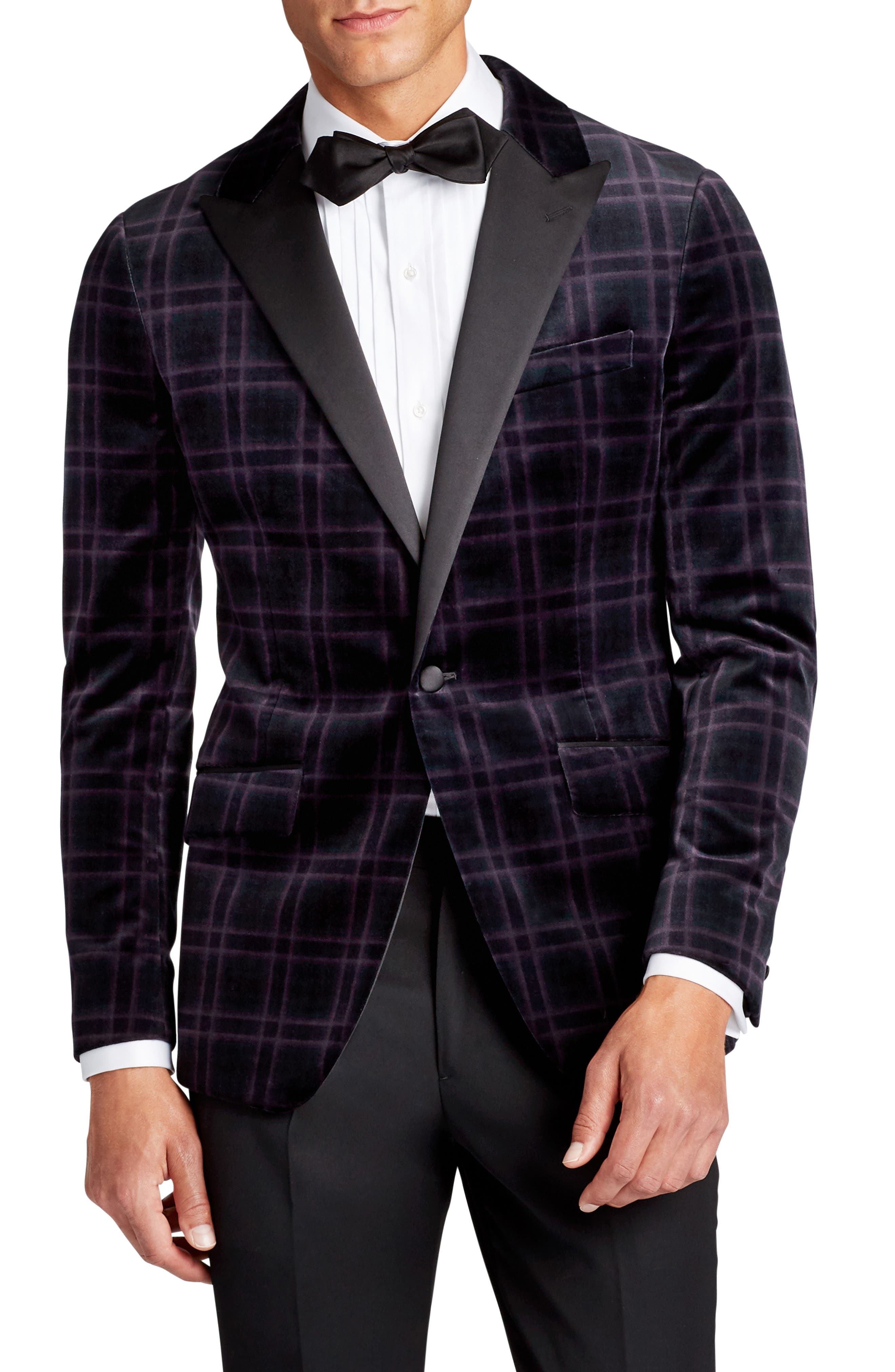 Bonobos Jetsetter Trim Fit Plaid Wool Blend Sport Coat