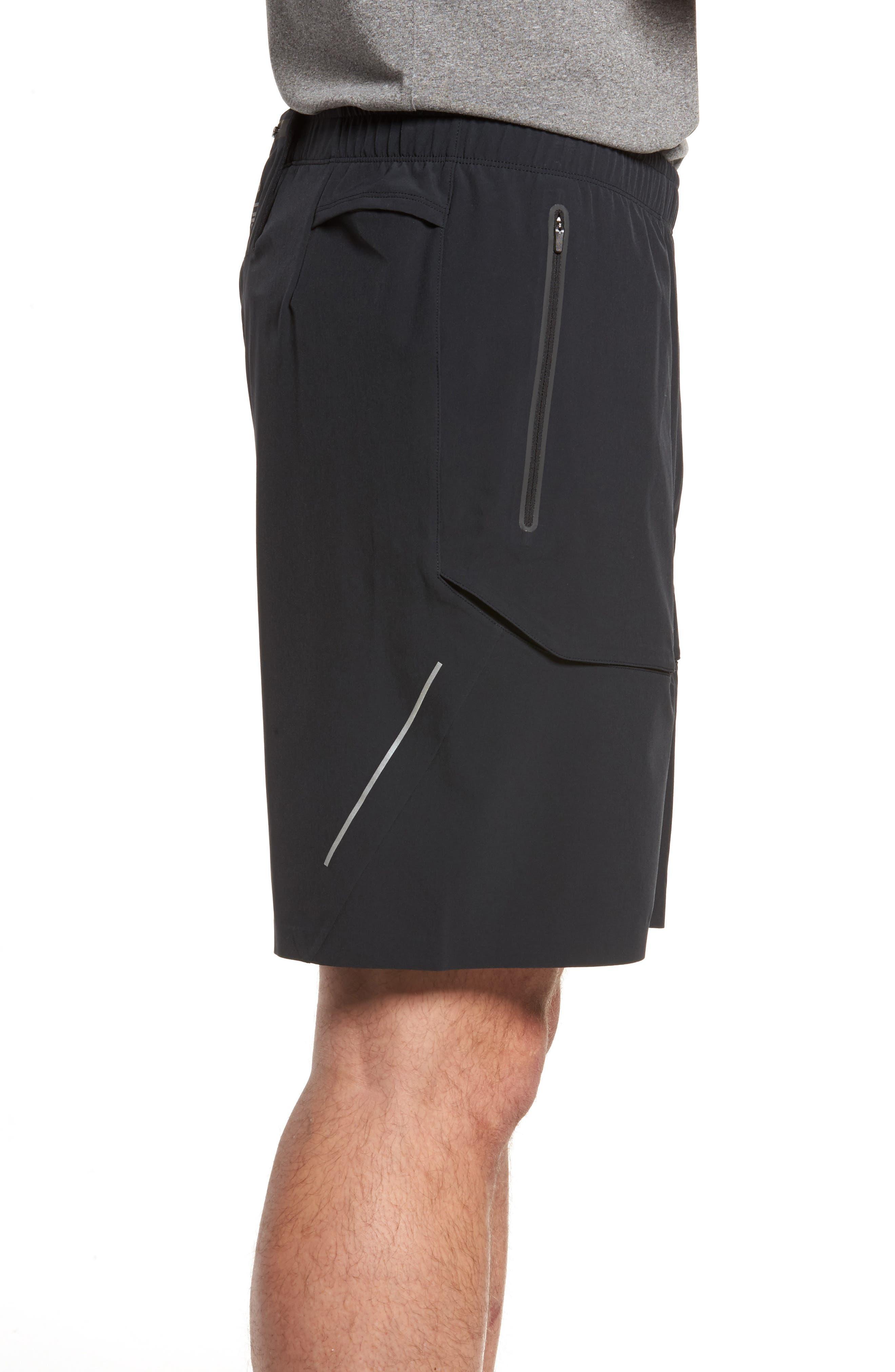 Running Shield Shorts,                             Alternate thumbnail 3, color,                             Black