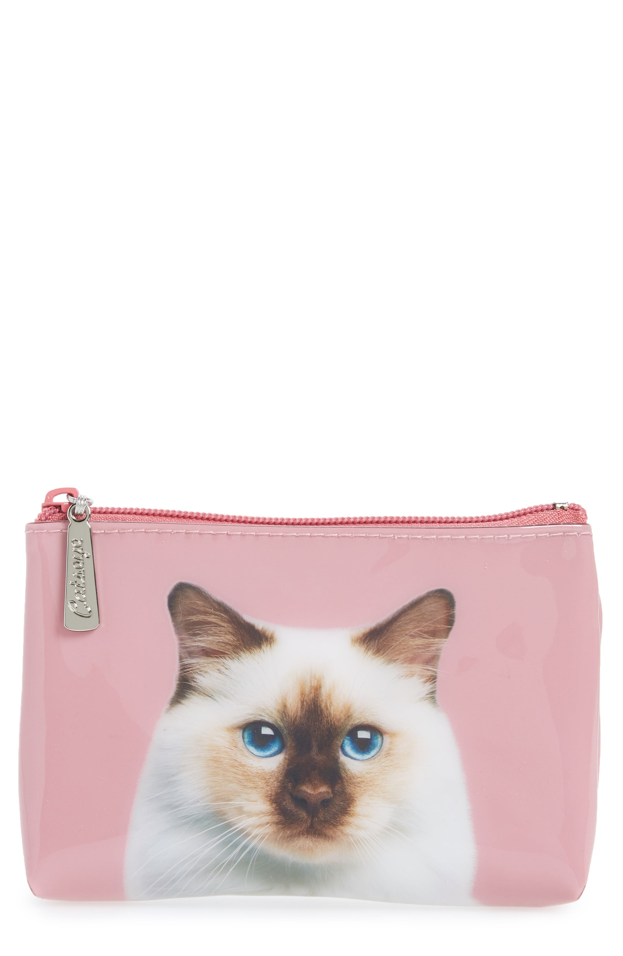 Zip Pouch,                         Main,                         color, Rose