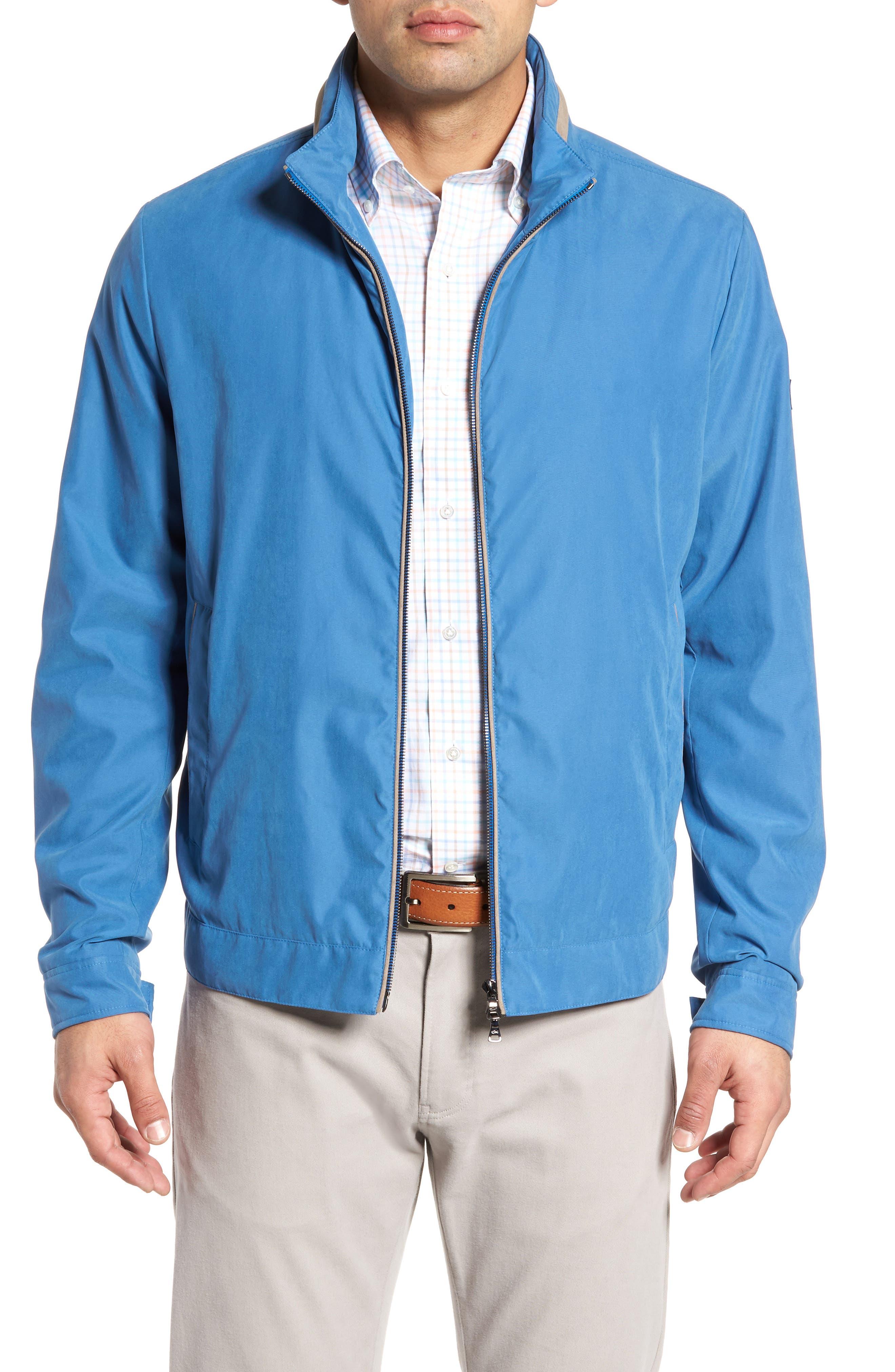 Paul&Shark Water Repellent Microfiber Jacket,                         Main,                         color, Blue