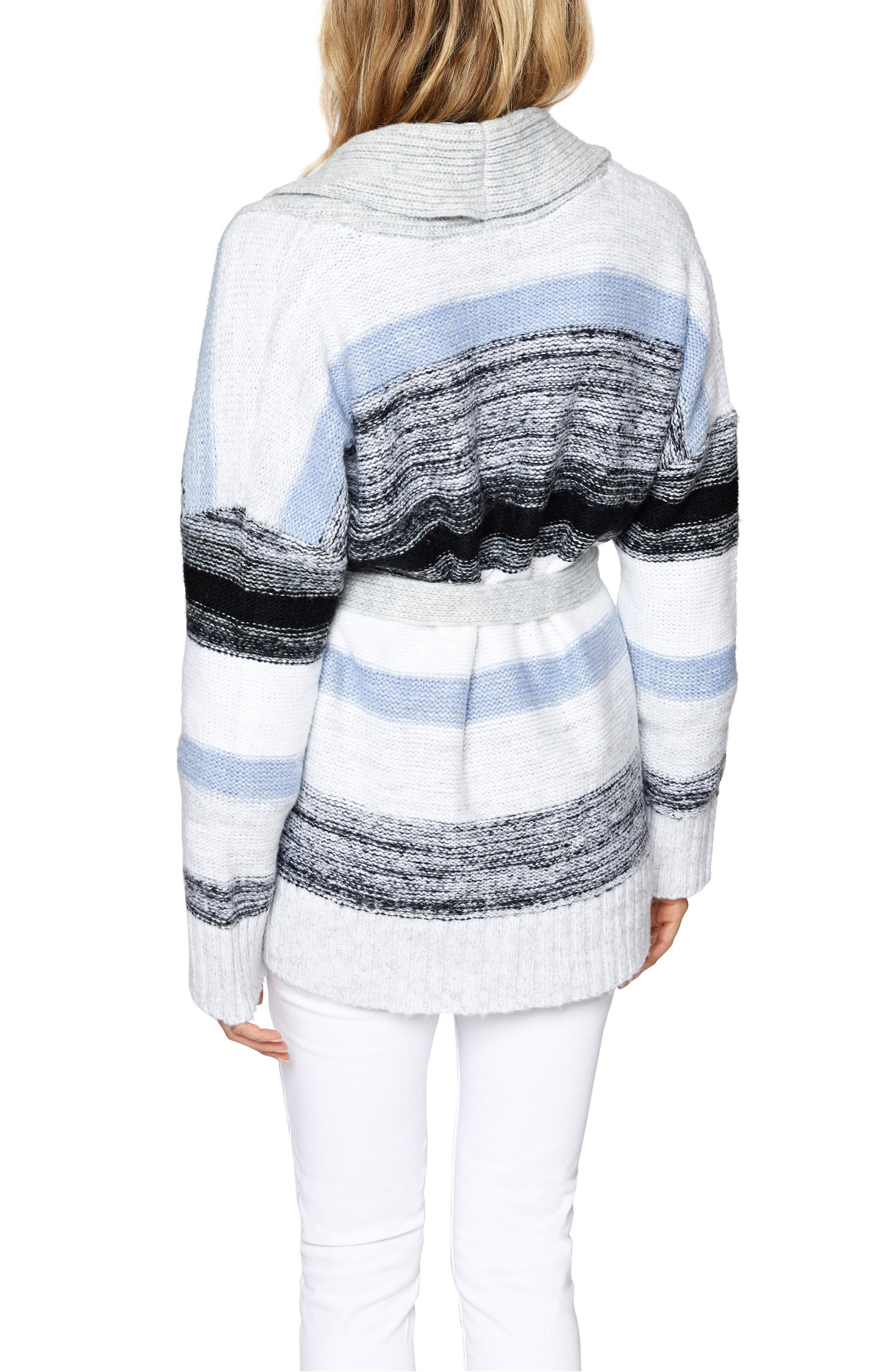 Sigrid Belted Knit Cardigan,                             Alternate thumbnail 2, color,                             Multi Colored
