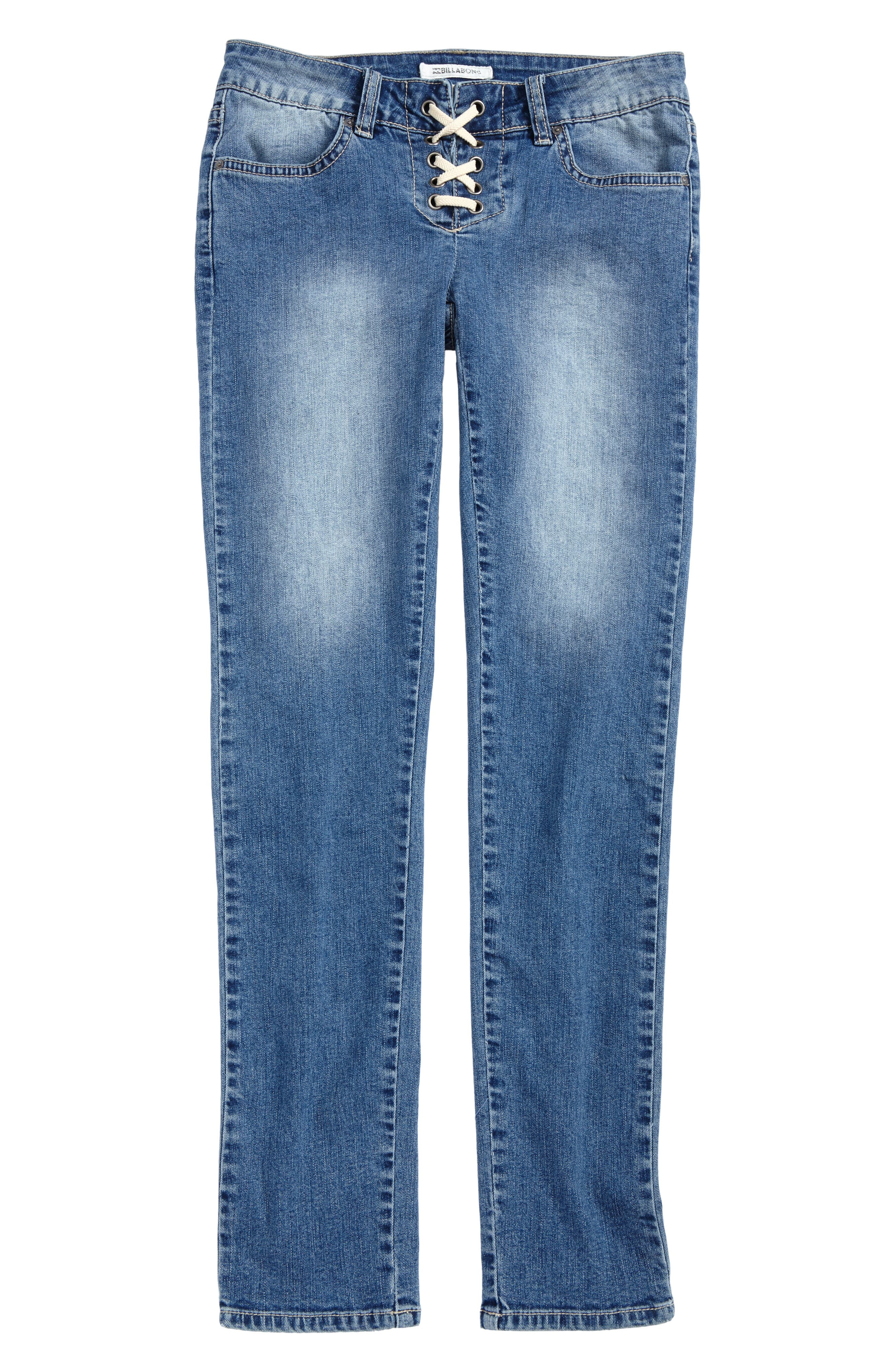 Side to Side Skinny Jeans,                         Main,                         color, Beach Blue