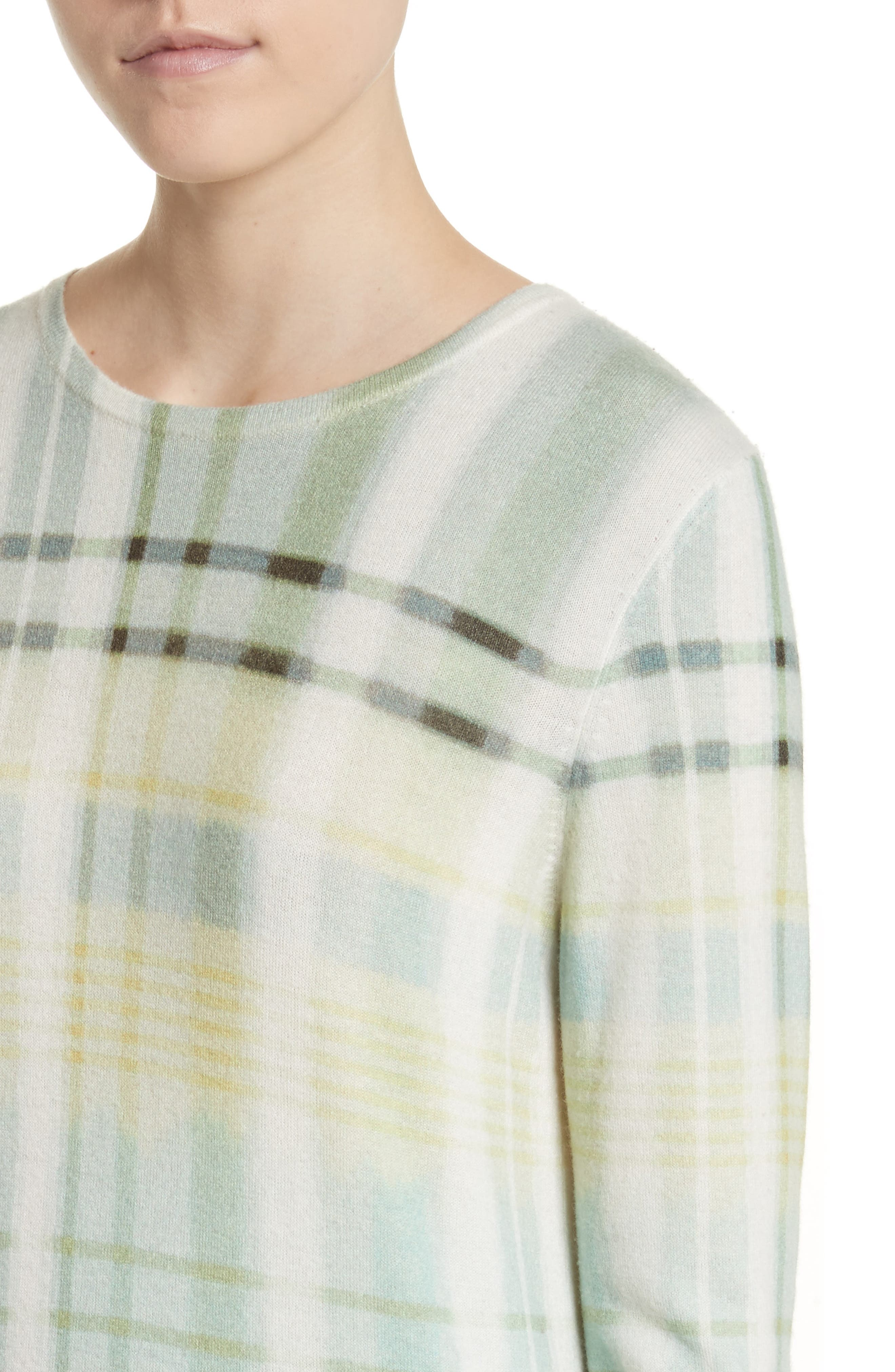 Alternate Image 4  - St. John Collection Plaid Cashmere Sweater
