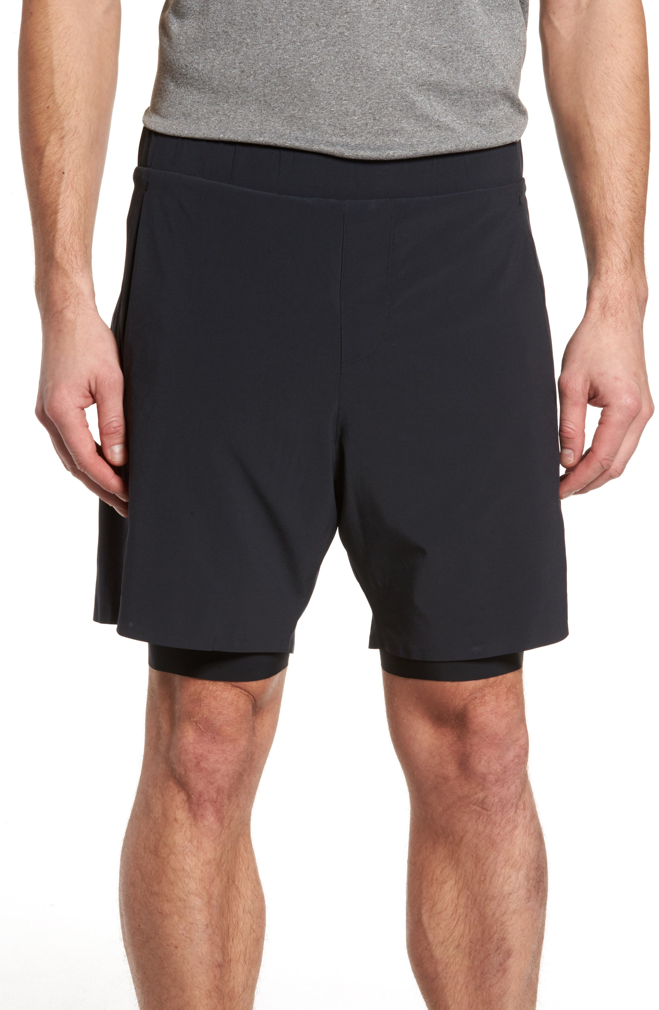 Interval 2-in-1 Shorts,                             Main thumbnail 1, color,                             Black