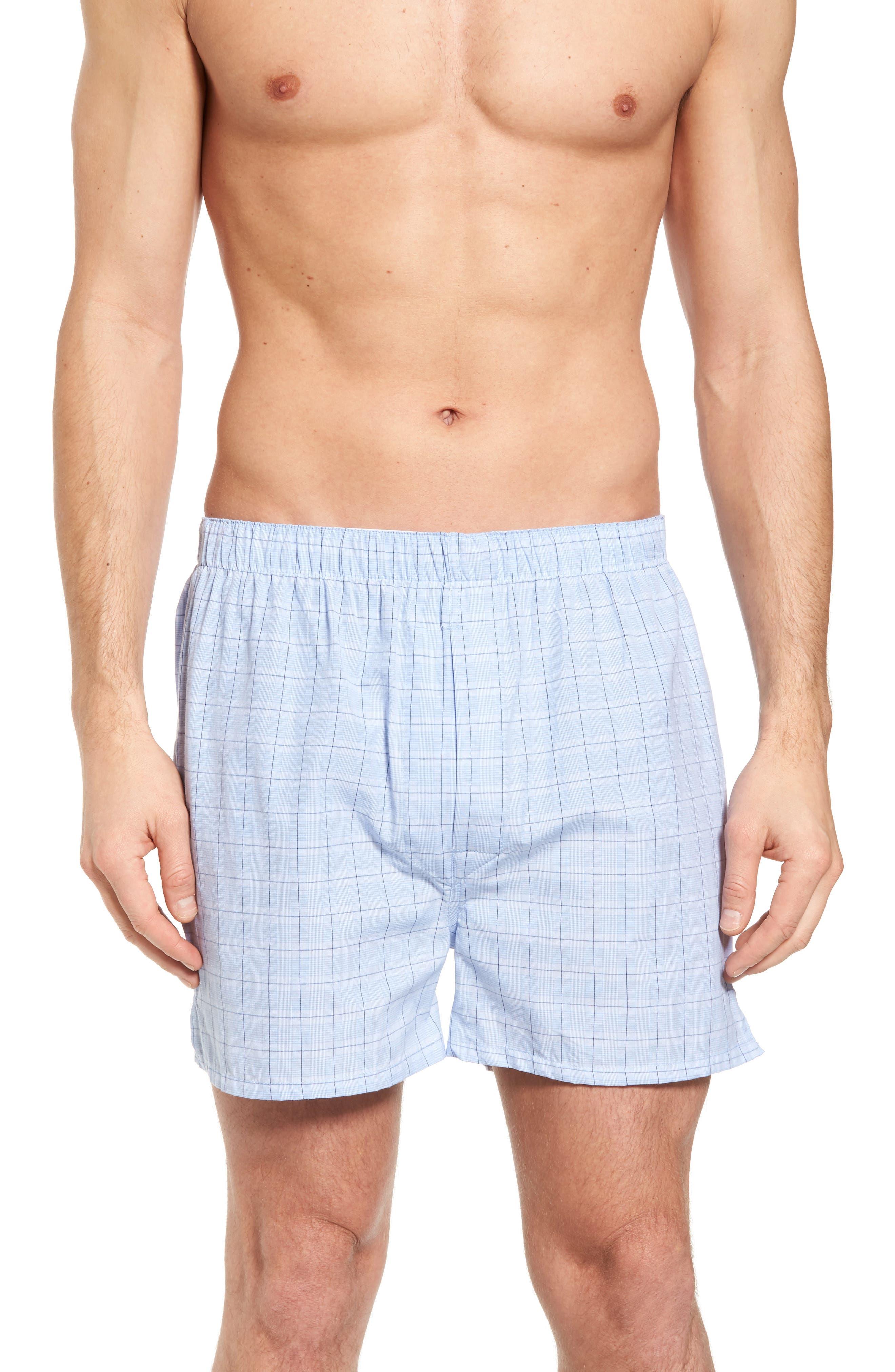 Majestic Boxer Shorts,                         Main,                         color, Light Blue Check