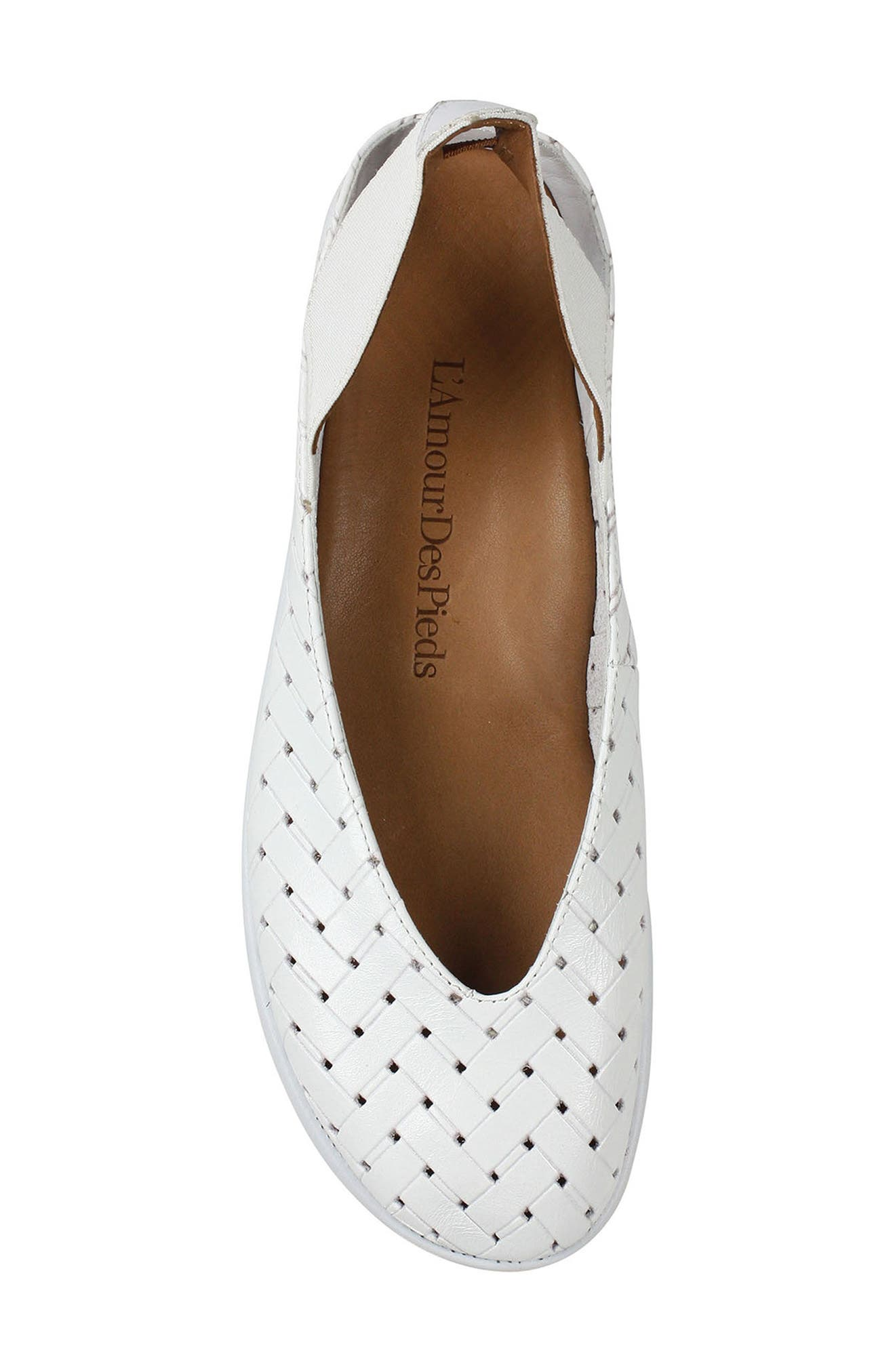 'Cypris' Slingback Wedge,                             Alternate thumbnail 5, color,                             White Leather