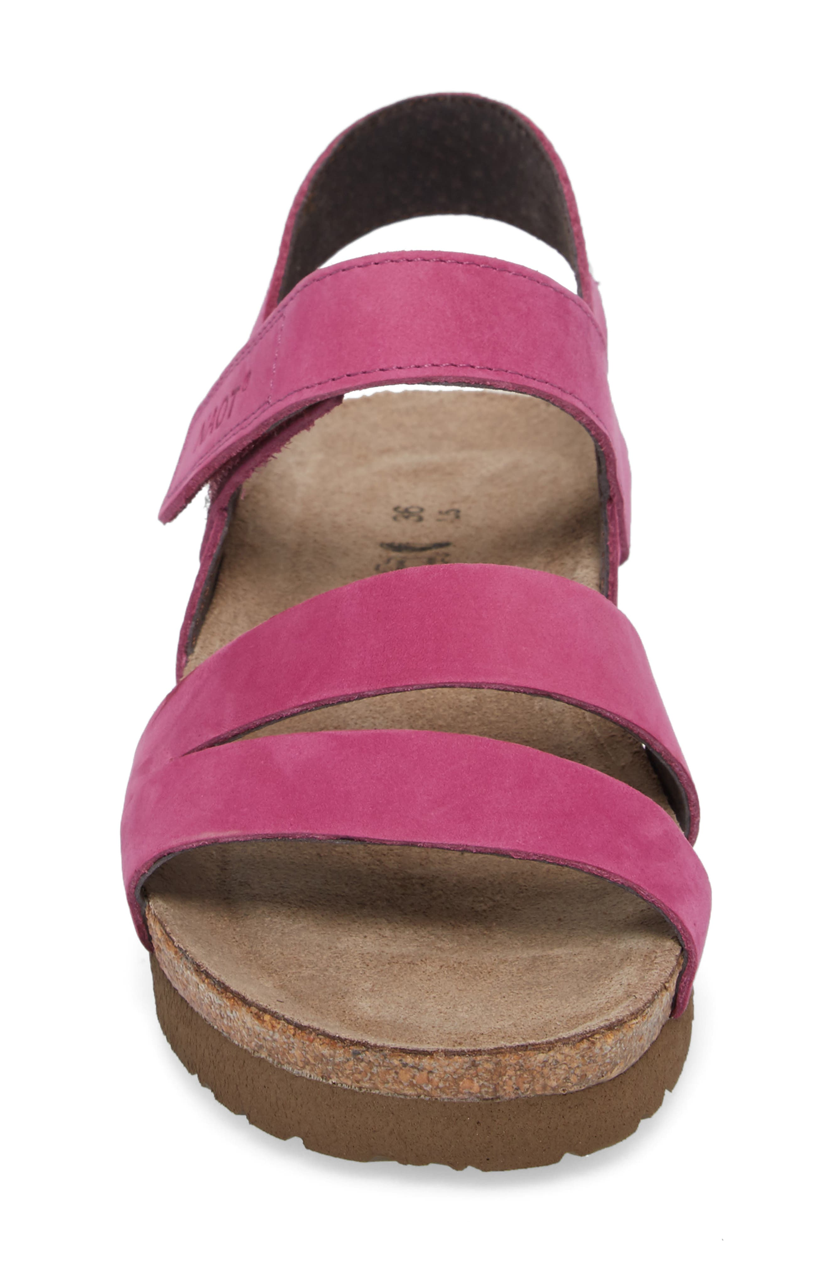 'Kayla' Sandal,                             Alternate thumbnail 4, color,                             Pink Plum Nubuck