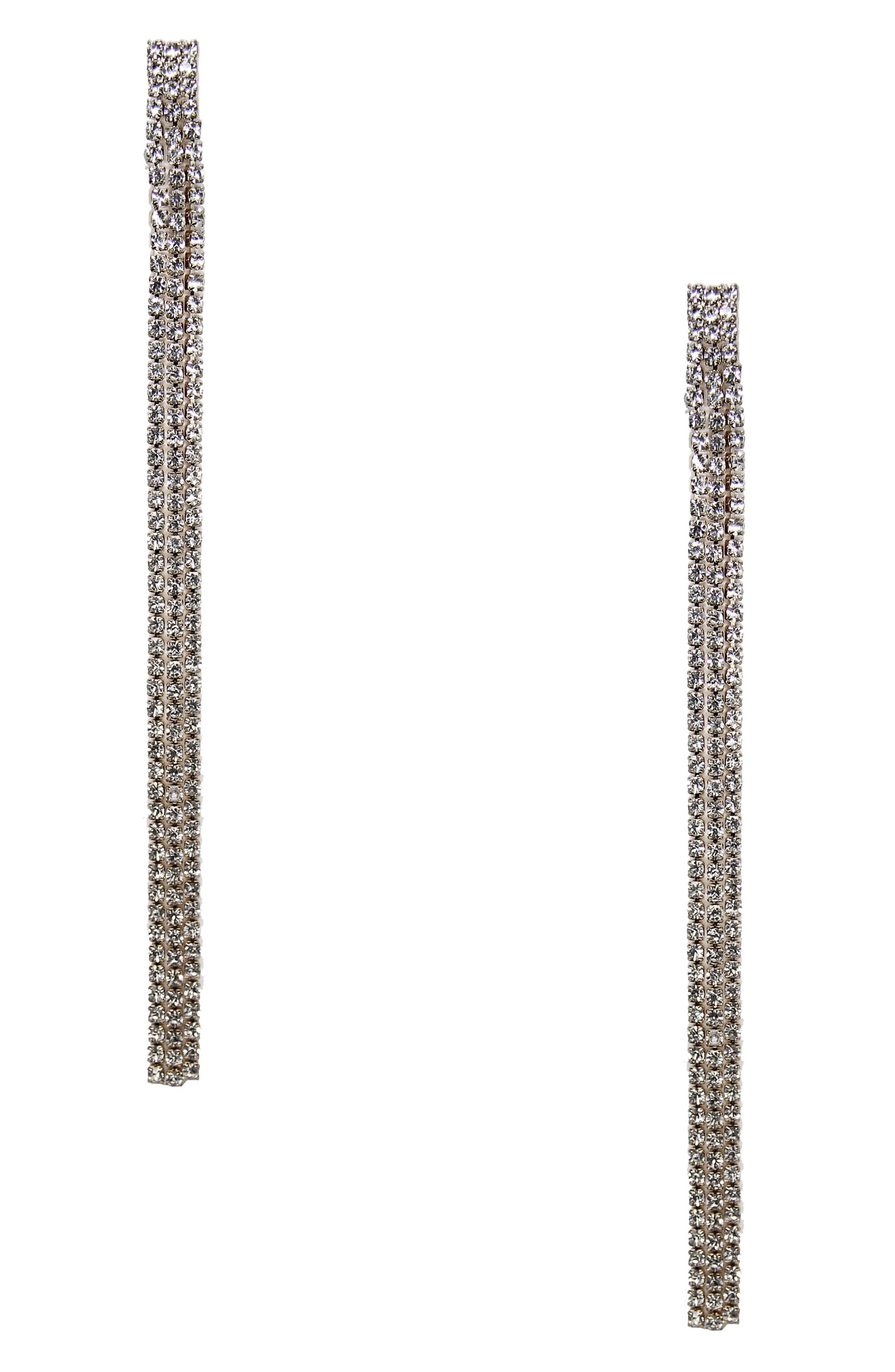 Alternate Image 1 Selected - Ettika Crystal Tassel Earrings