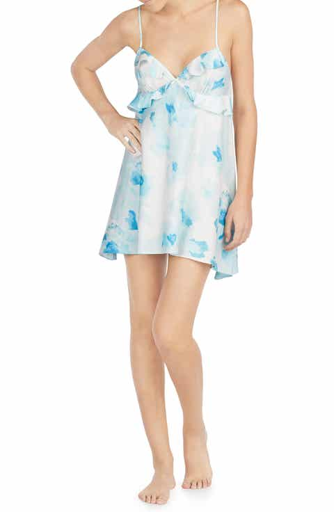 kate spade new york print charmeuse chemise