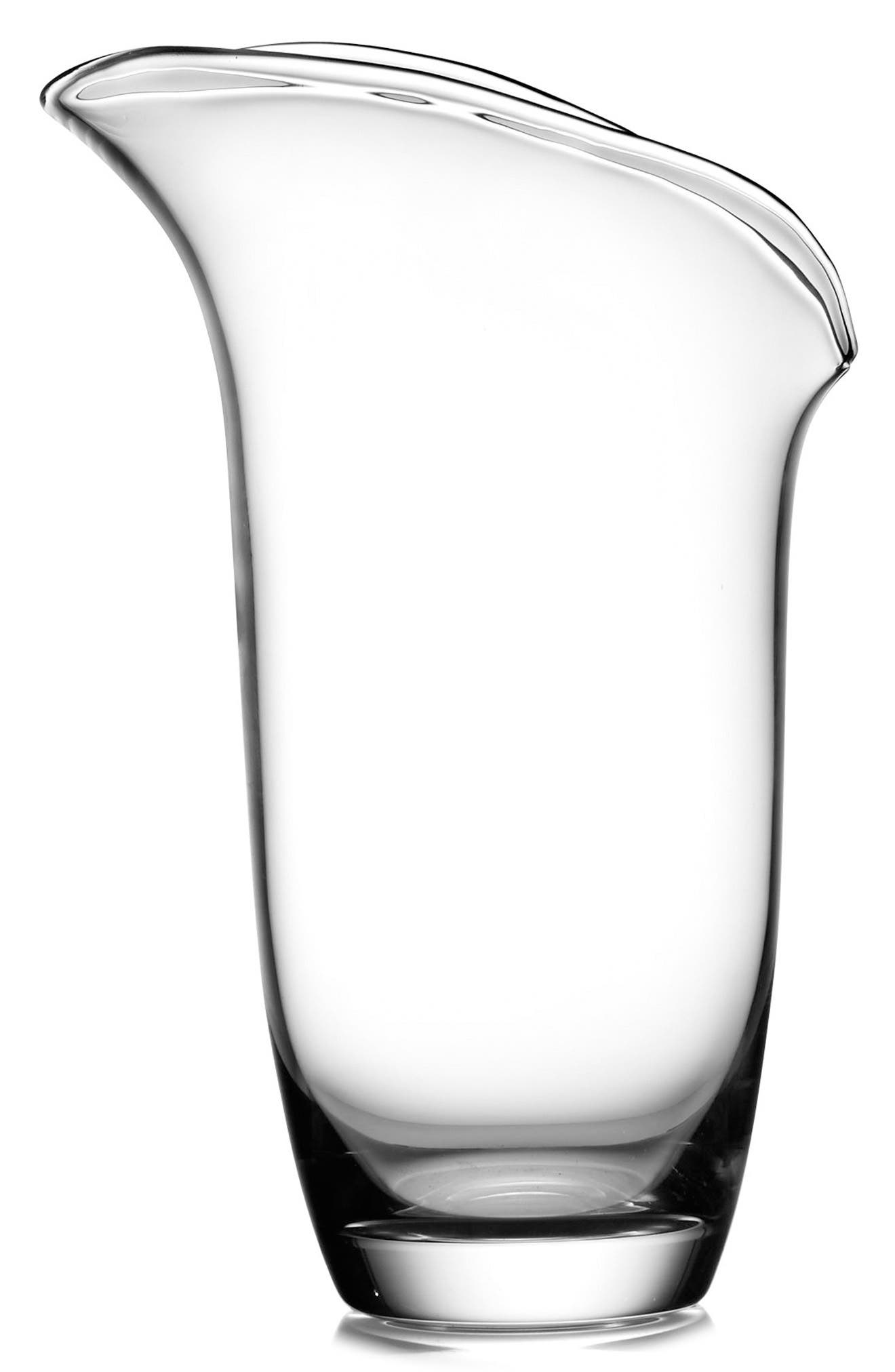 Large Moderne Vase,                             Main thumbnail 1, color,                             Clear