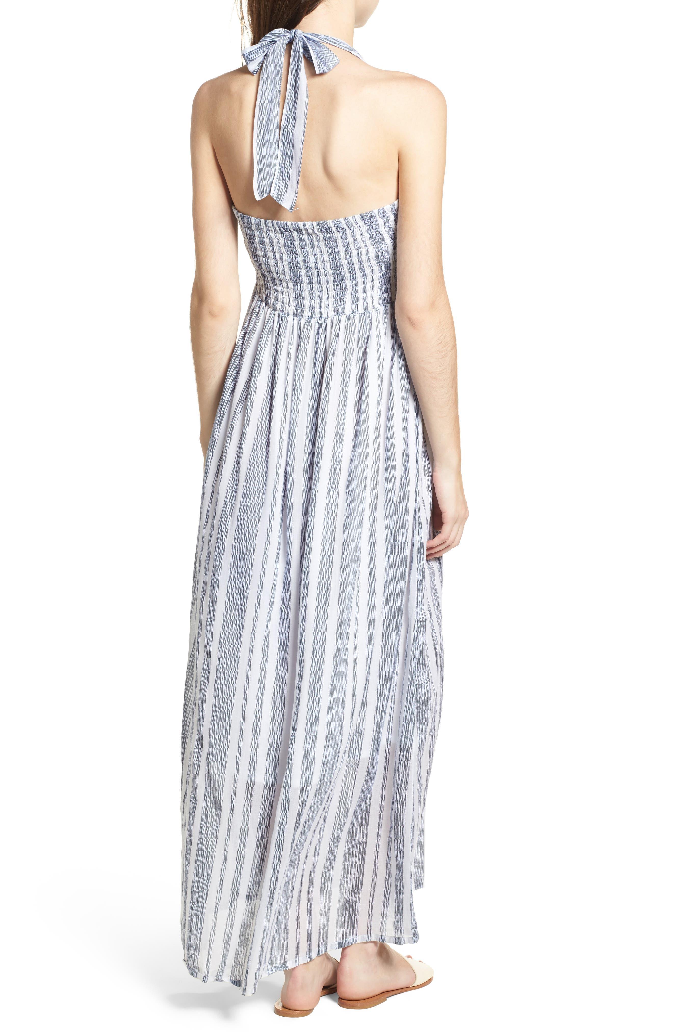 Setting Sail Stripe Maxi Dress,                             Alternate thumbnail 2, color,                             Blue/ White