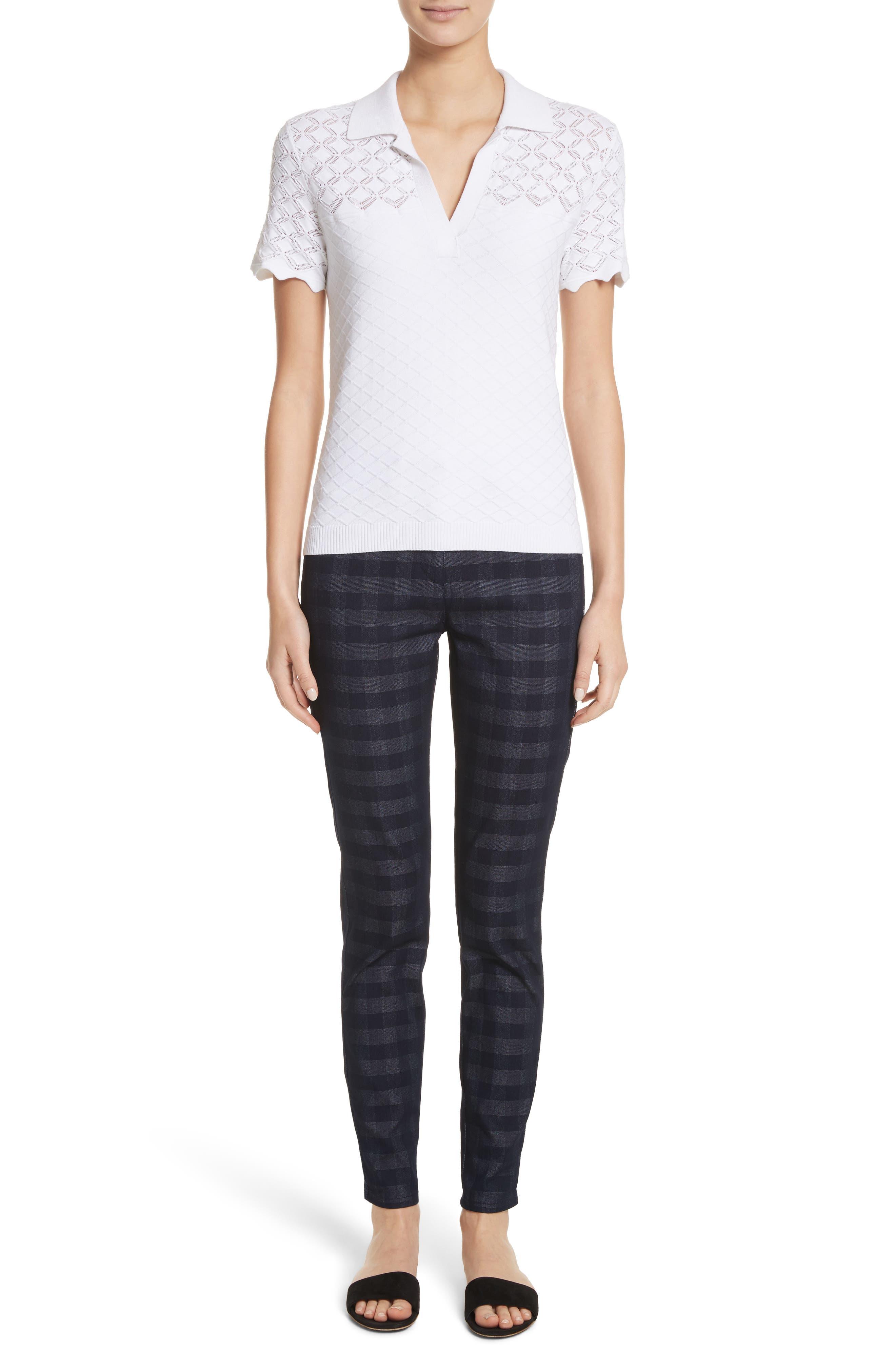 Alternate Image 7  - St. John Collection Gingham Skinny Jeans