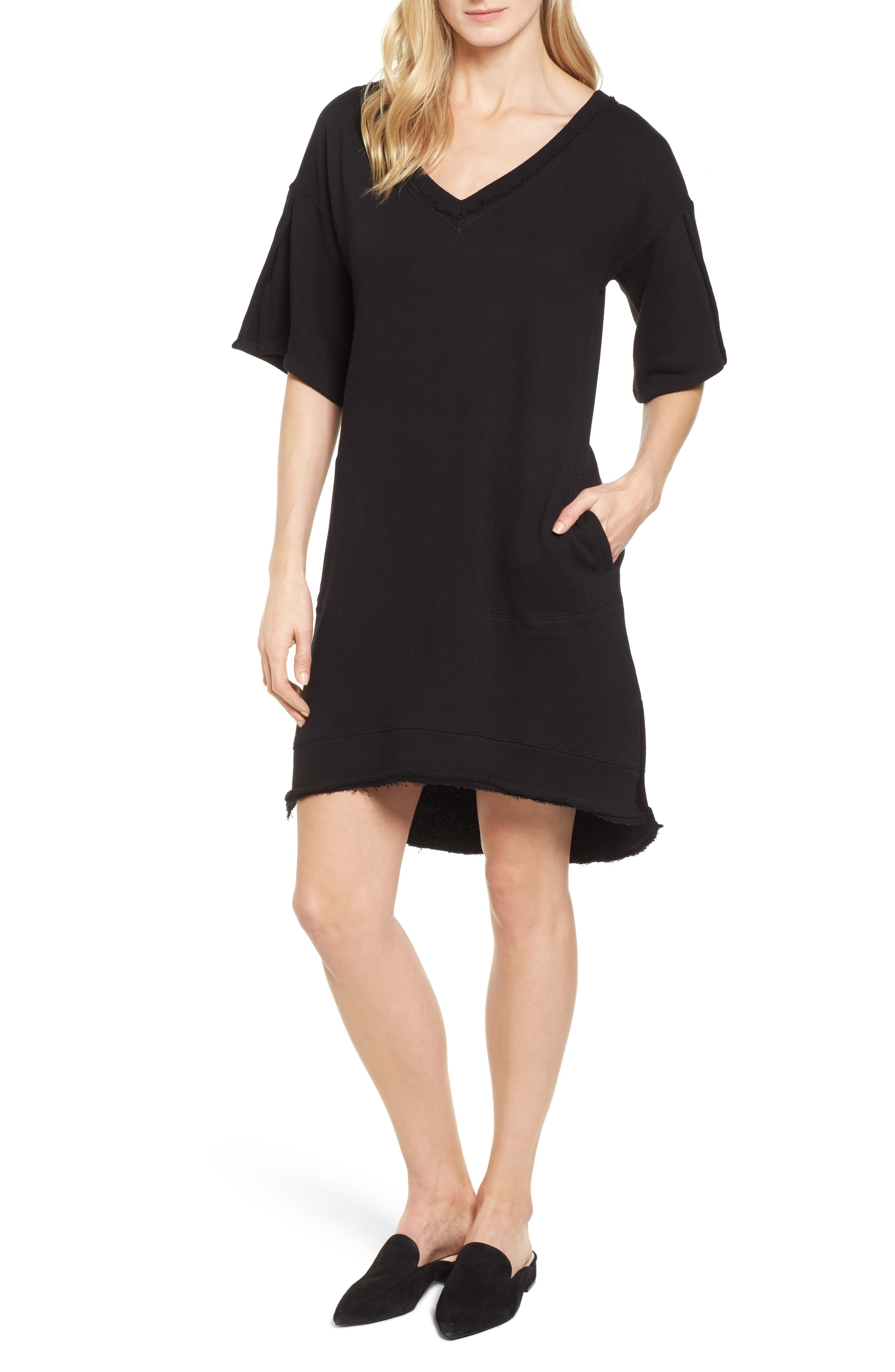 Alternate Image 1 Selected - Caslon® Lace-Up T-Shirt Dress