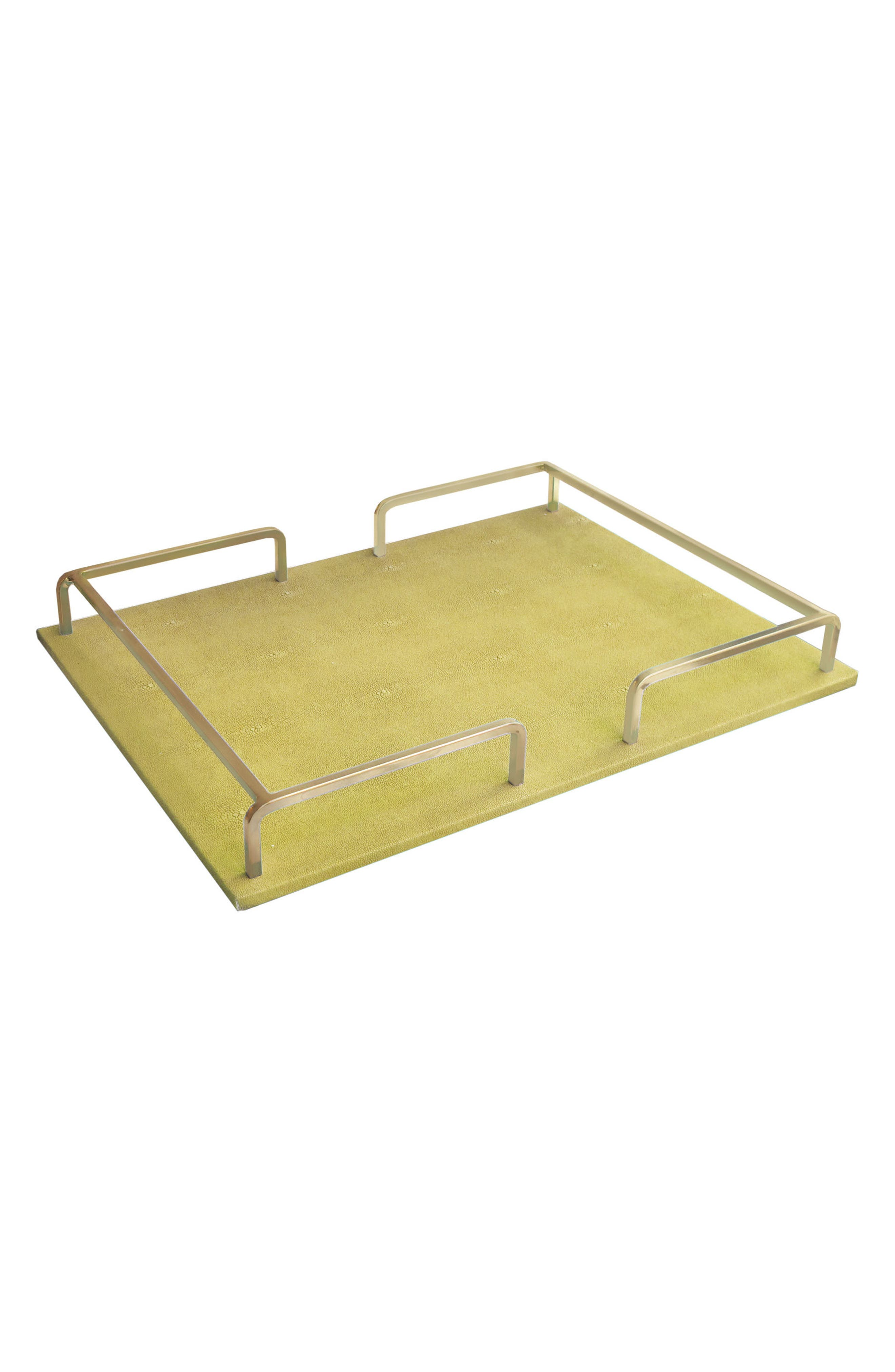 Shagreen Serving Tray,                         Main,                         color, Gold
