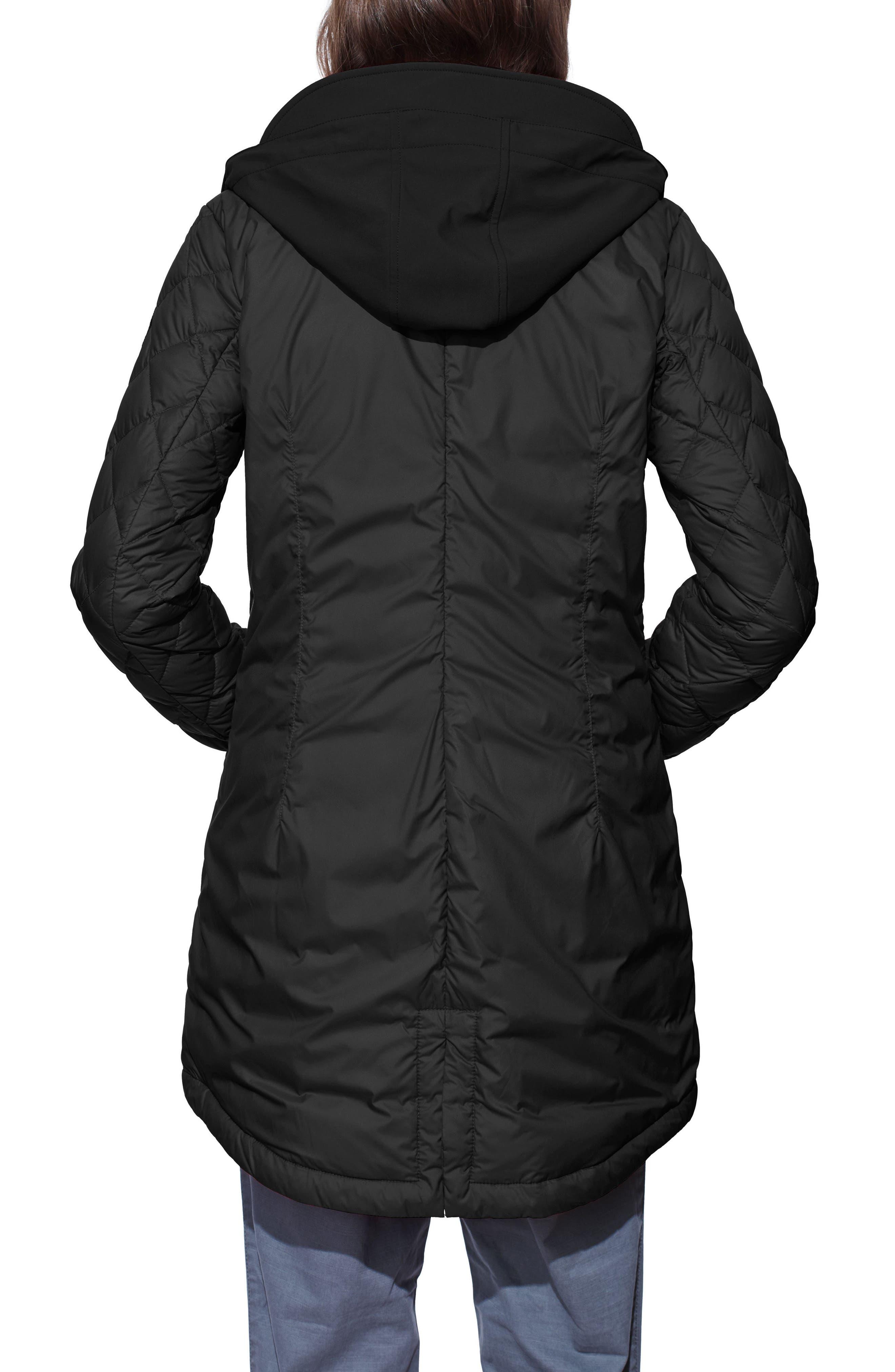 Stellarton Slim Fit Down Coat,                             Alternate thumbnail 2, color,                             Black/ Black