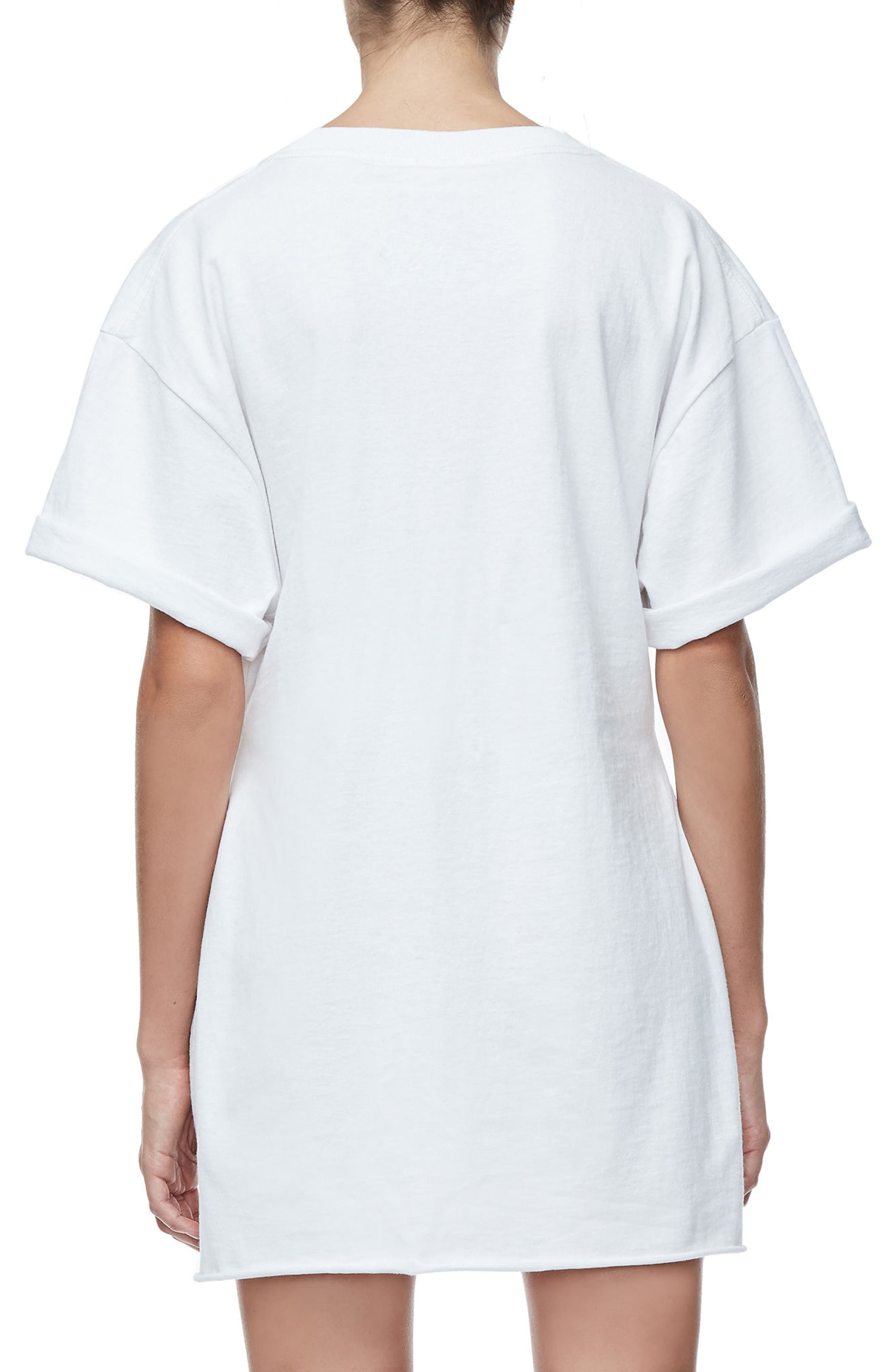 Goodies Graphic Oversize Tee,                             Alternate thumbnail 3, color,                             White001