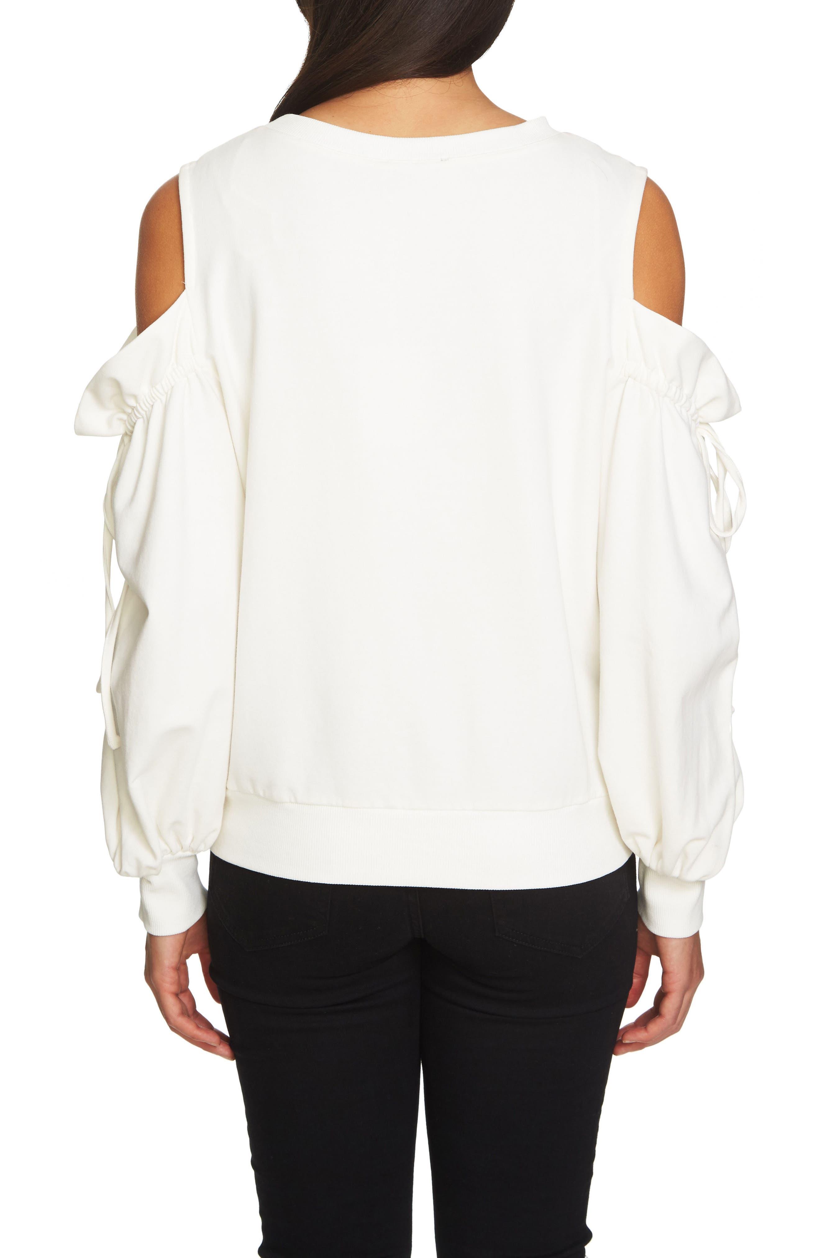 Alternate Image 2  - 1.STATE Cold Shoulder Blouson Sweater