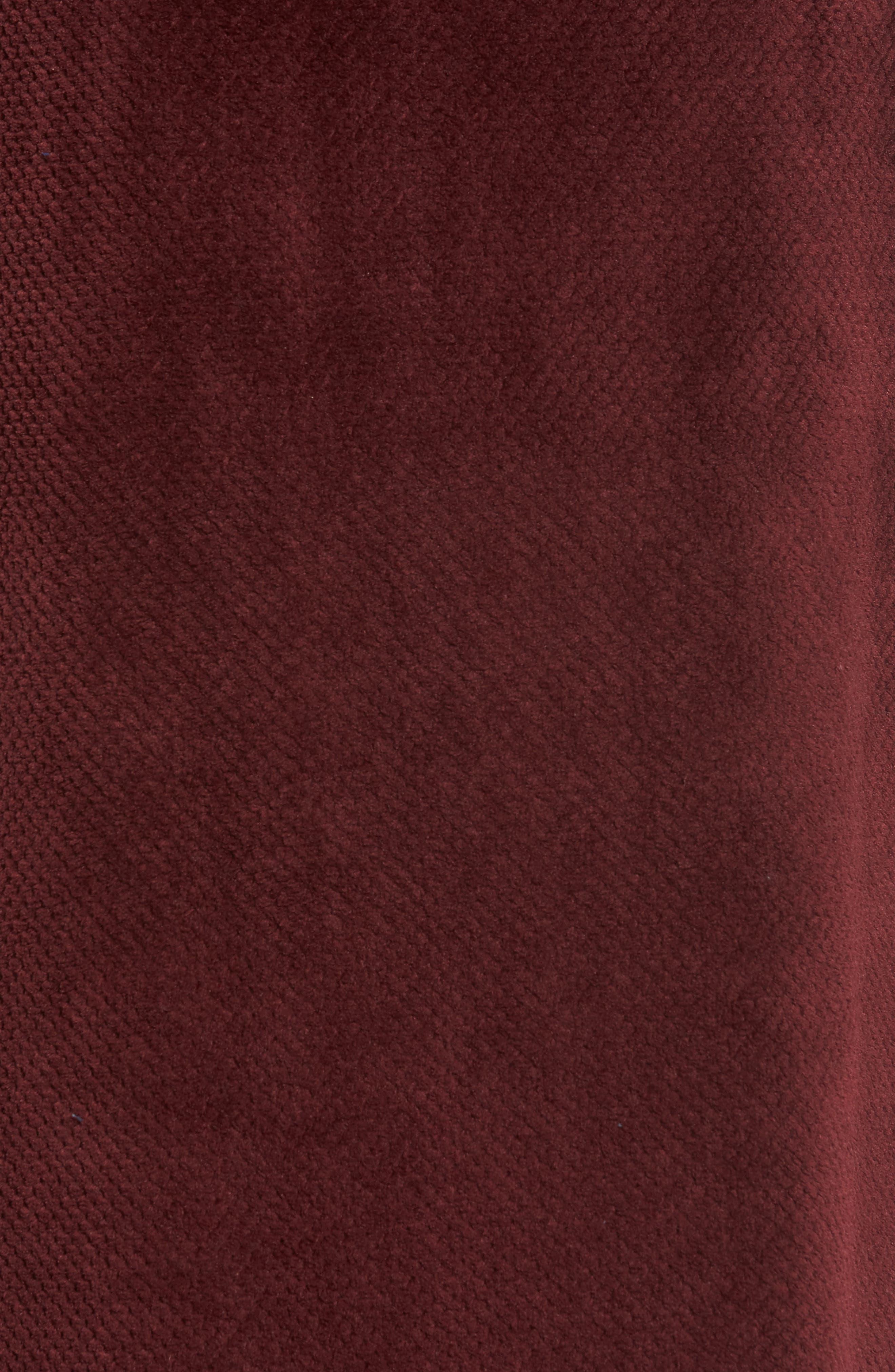 Fleece Robe,                             Alternate thumbnail 5, color,                             Burgundy