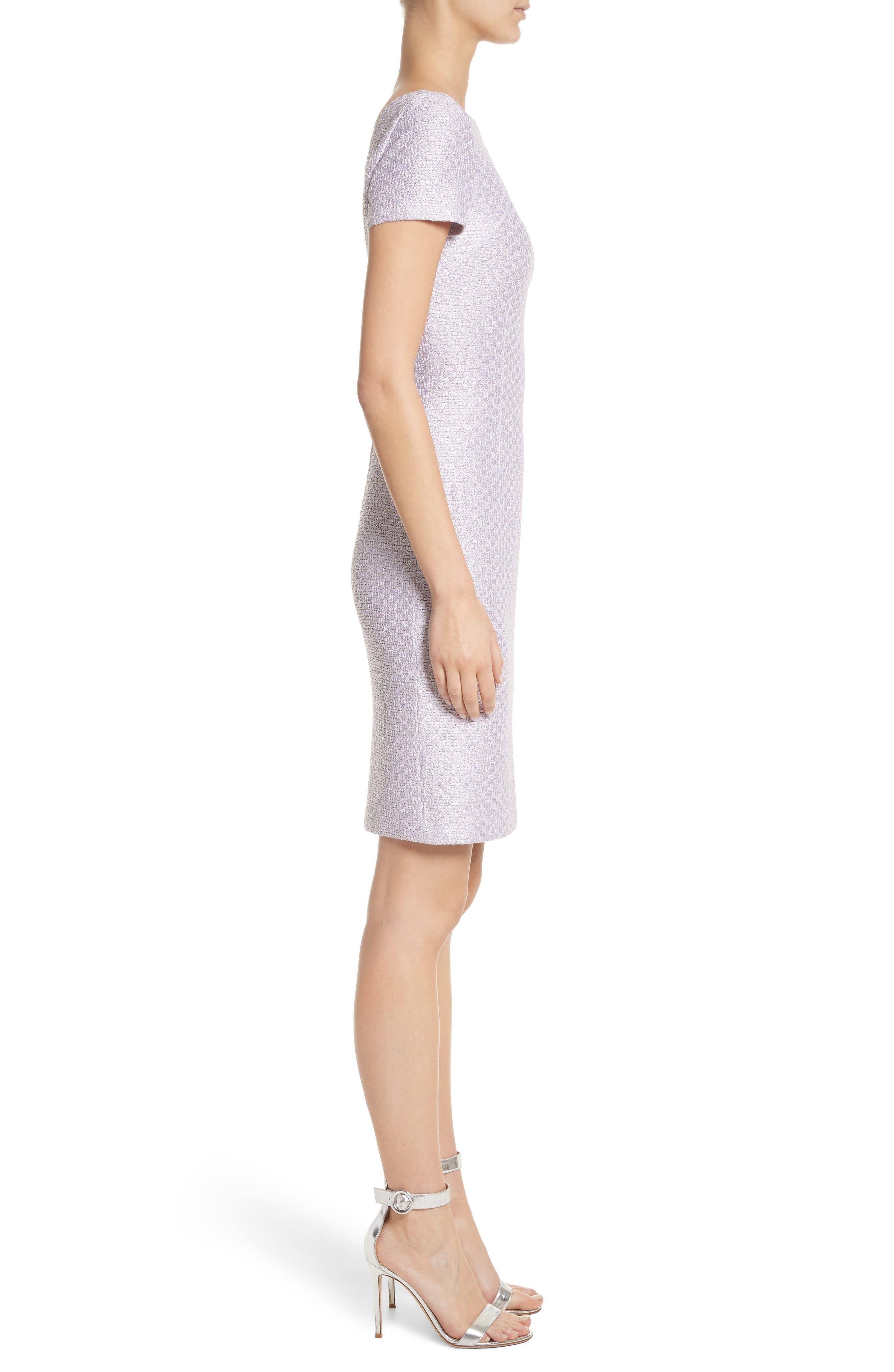 Hansh Sequin Knit Cutout Dress,                             Alternate thumbnail 3, color,                             Lilac Multi